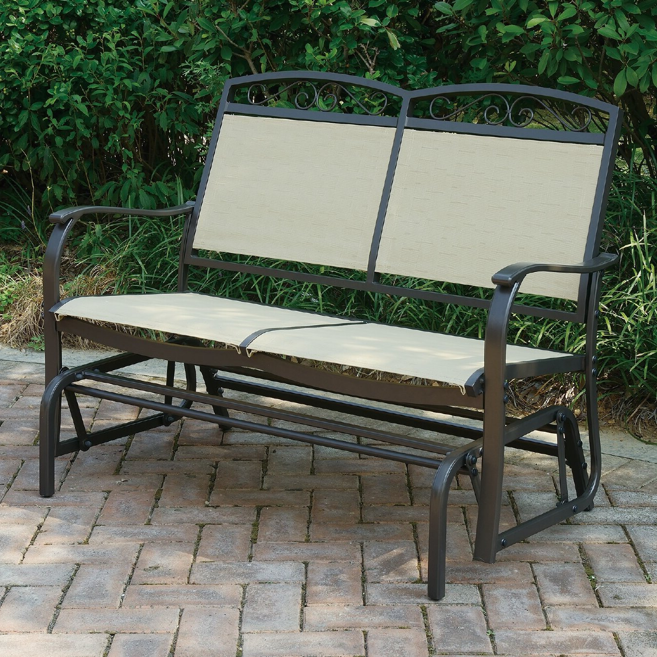 Outdoor Fabric Glider Benches Within 2020 Wayzata Outdoor Fabric Glider Bench (Gallery 8 of 30)