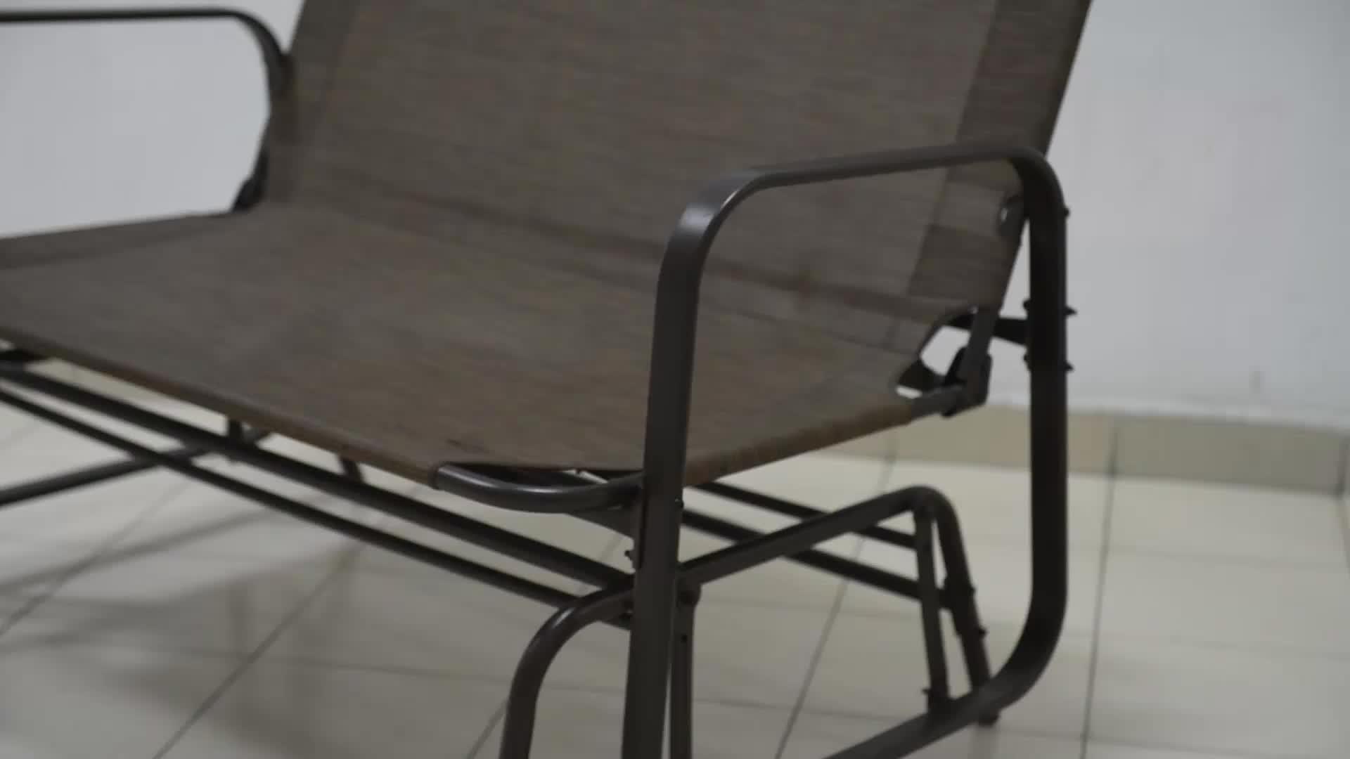 Outdoor Garden Steel Frame Patio Swing Glider Loveseat Bench Rocking Chair – Buy Outdoor Garden Bench,metal Garden Bench,glider Rocking Chair Product For Widely Used Outdoor Steel Patio Swing Glider Benches (Gallery 10 of 30)