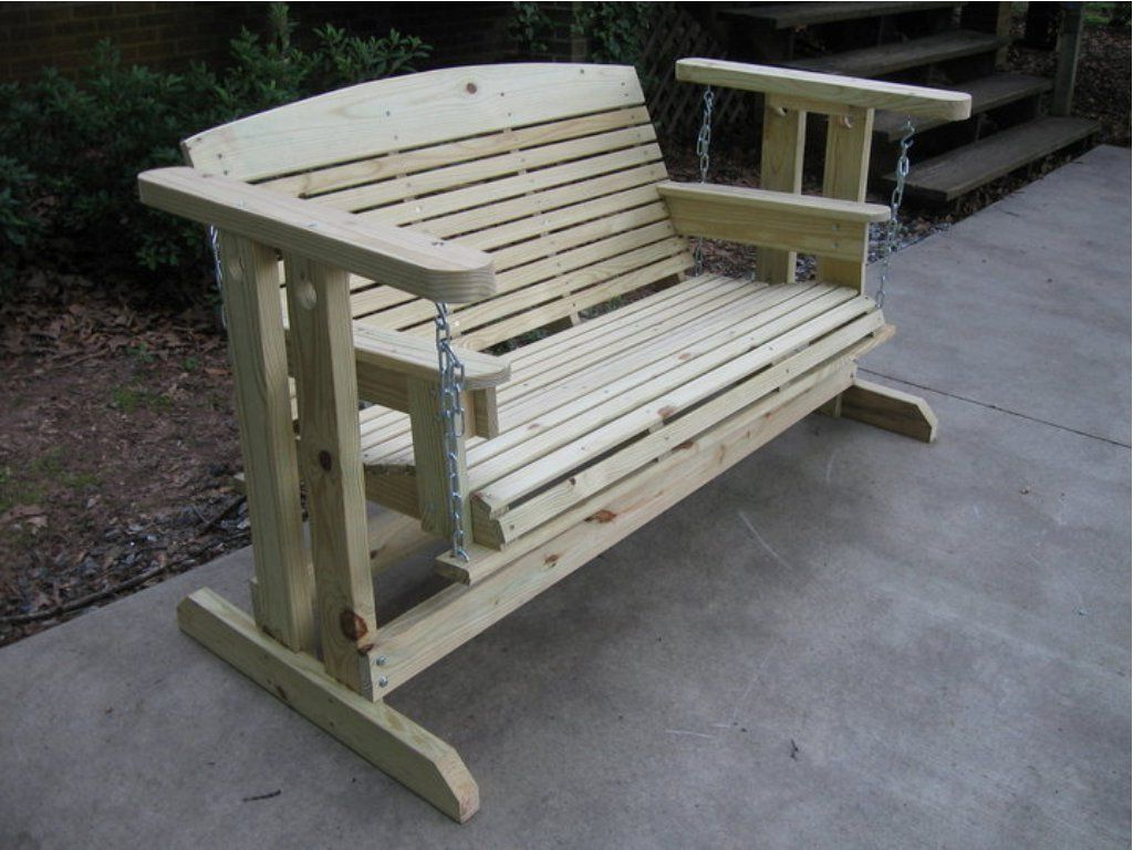 Outdoor Glider, Outdoor Glider Chair With Hardwood Porch Glider Benches (View 2 of 30)