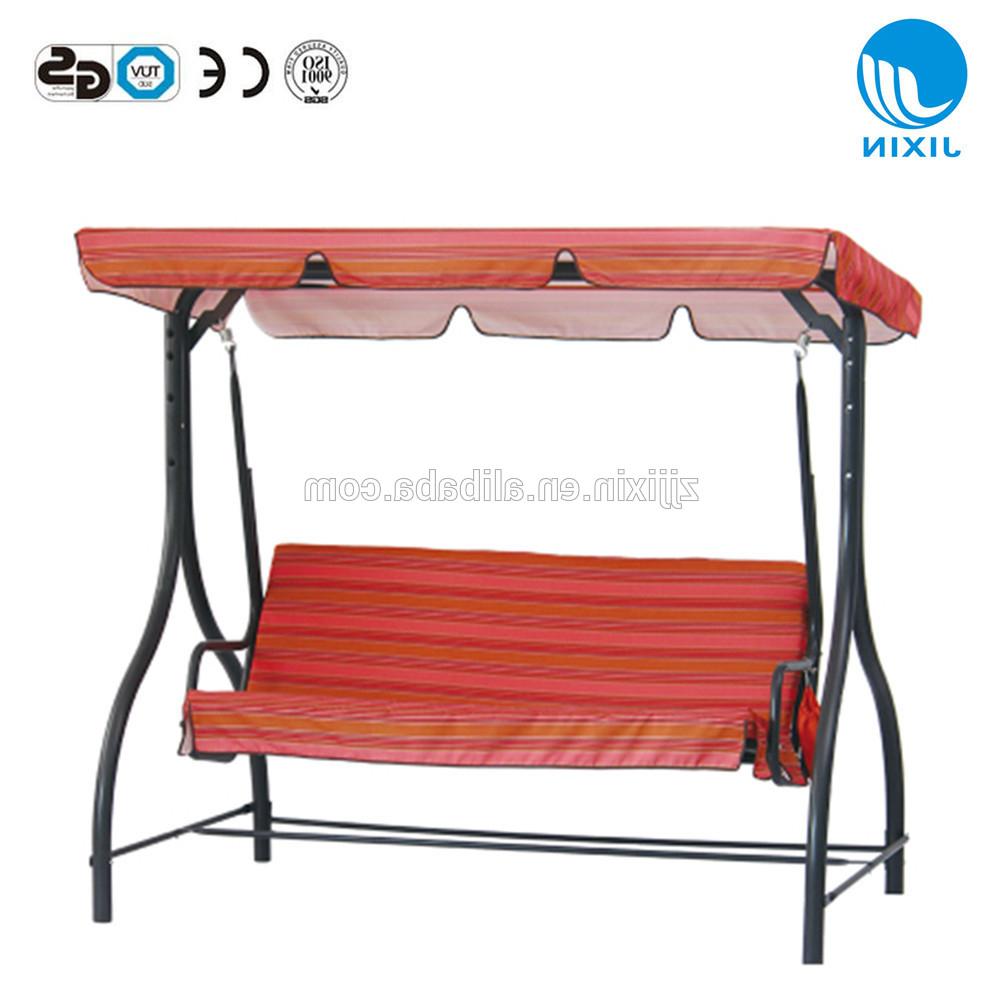 Outdoor Patio Canopy Porch Swing Bench Garden Swing Chair With Swing Top  Cover – Buy Patio Canopy Porch Swing Bench Garden Swing Chair,garden Swing For Favorite Canopy Porch Swings (Gallery 4 of 30)