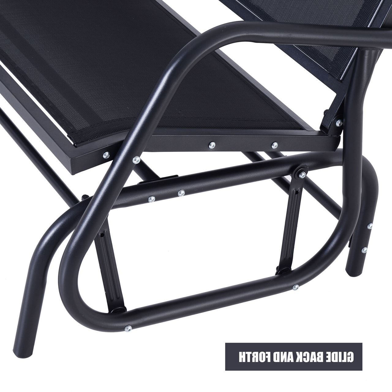 Outdoor Patio Swing Glider Bench Chairs Regarding Fashionable Outdoor Patio Swing Glider Bench Chair – Dark Gray (Gallery 29 of 30)