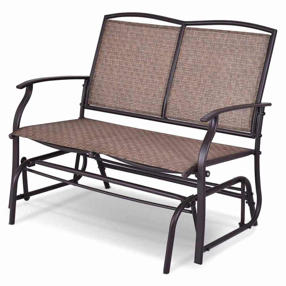 Outdoor Patio Swing Glider Bench Chairs Regarding Well Liked The 10 Best Patio Gliders (2020) (Gallery 16 of 30)