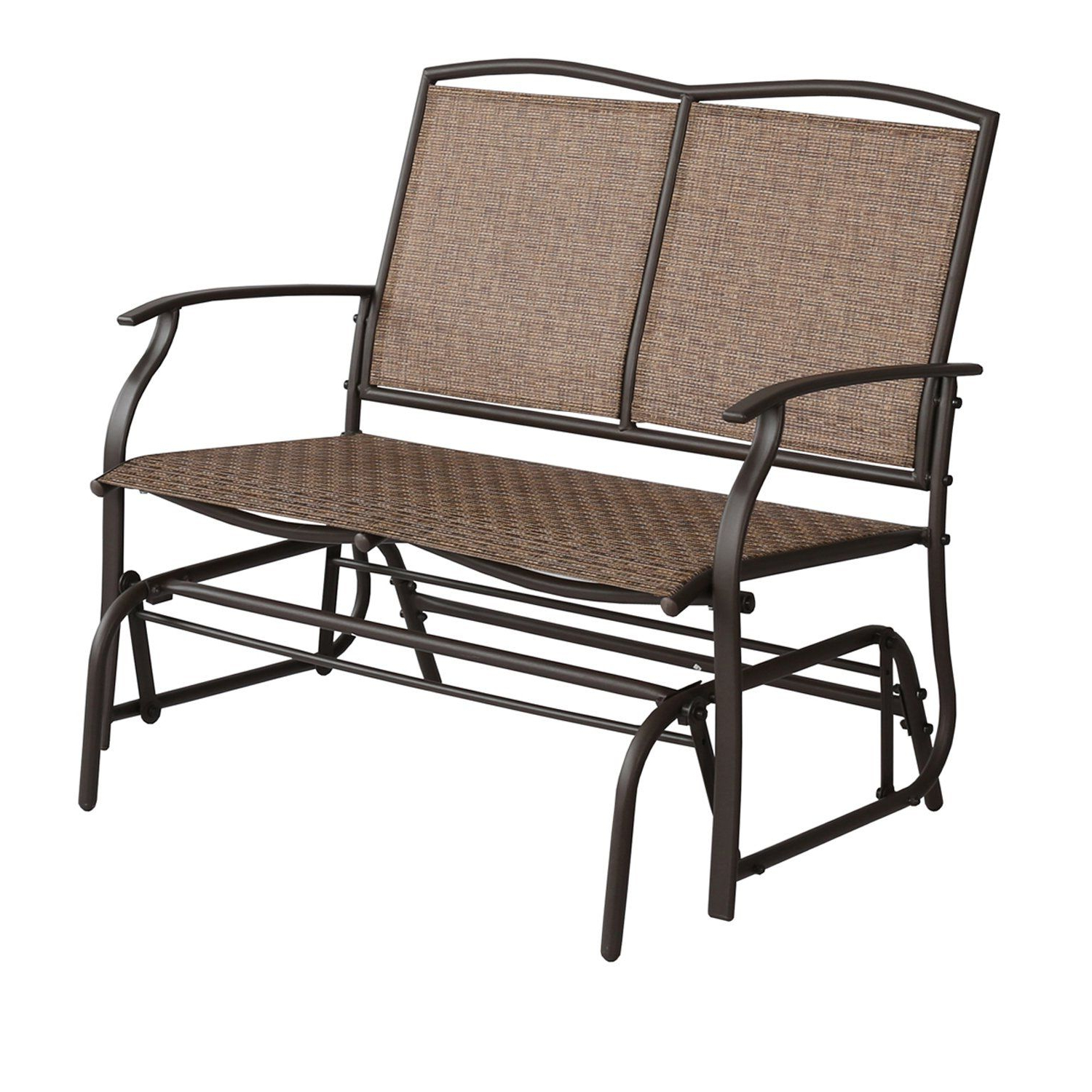 Outdoor Patio Swing Glider Bench Chairs Within Trendy Patio Tree Patio Swing Glider Bench For 2 Person All (View 18 of 30)
