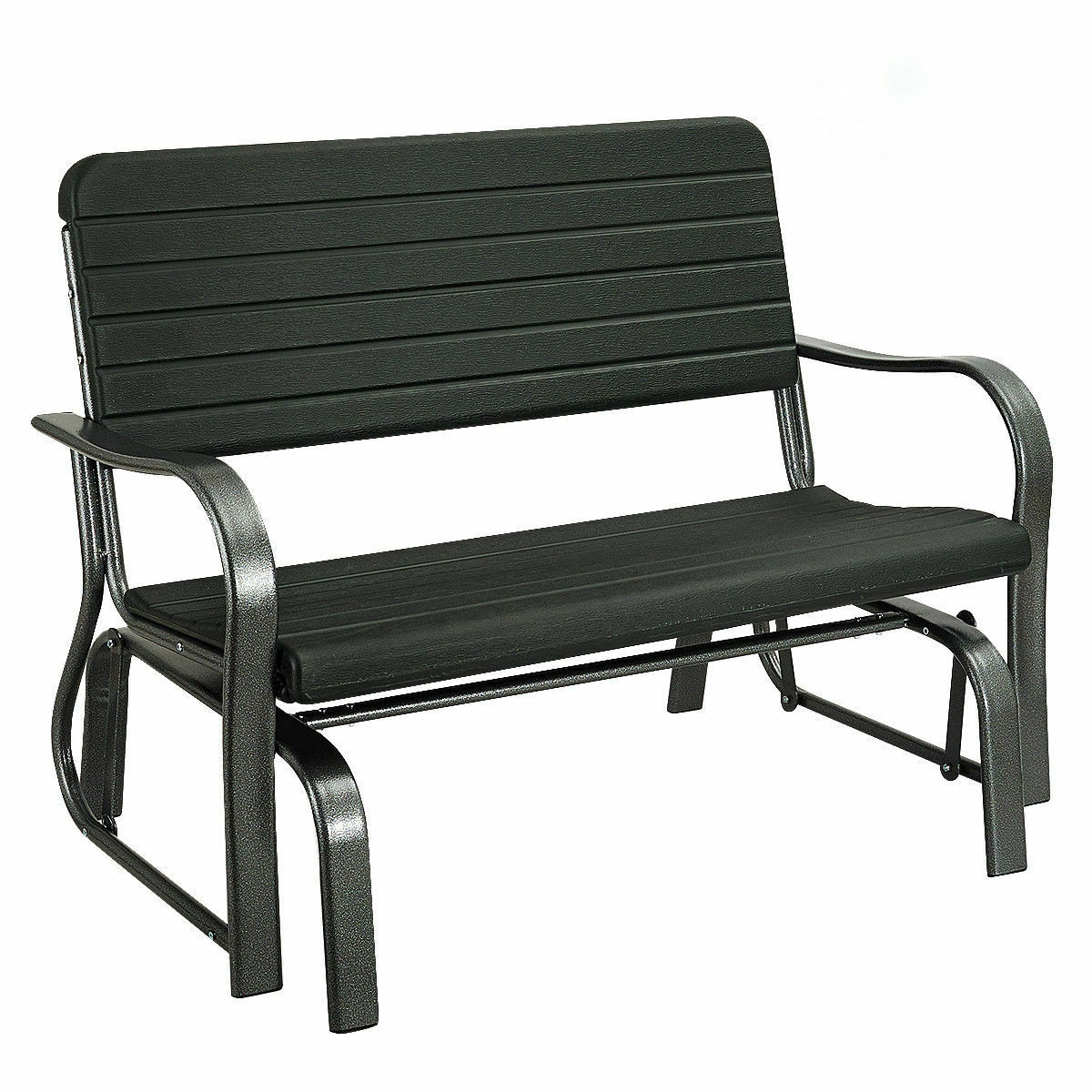 Outdoor Patio Swing Porch Rocker Glider Bench Loveseat Garden Seat Steel New With Most Recently Released Loveseat Glider Benches (Gallery 6 of 30)