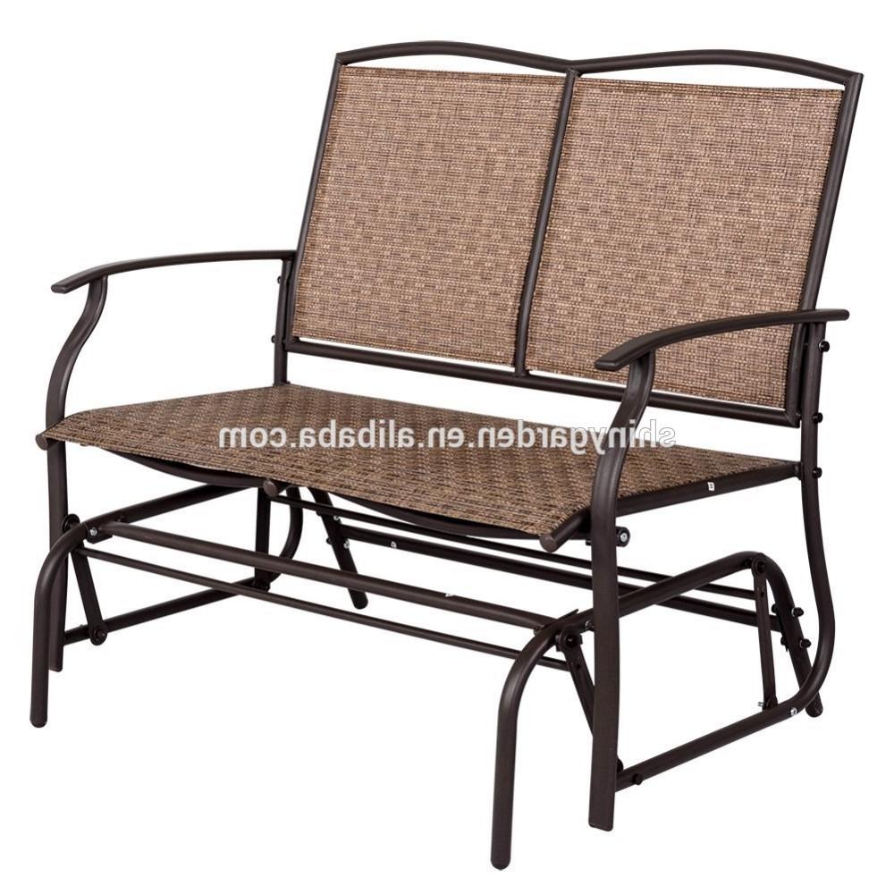 Outdoor Patio Swing Porch Rocker Glider Benches Loveseat Garden Seat Steel For Latest Modern Outdoor 2 Person Loveseat Glider Bench Double Chair,patio Porch  Swing Designs With Rocker Chair – Buy Double Chair Swing,modern Outdoor  Patio (Gallery 28 of 30)