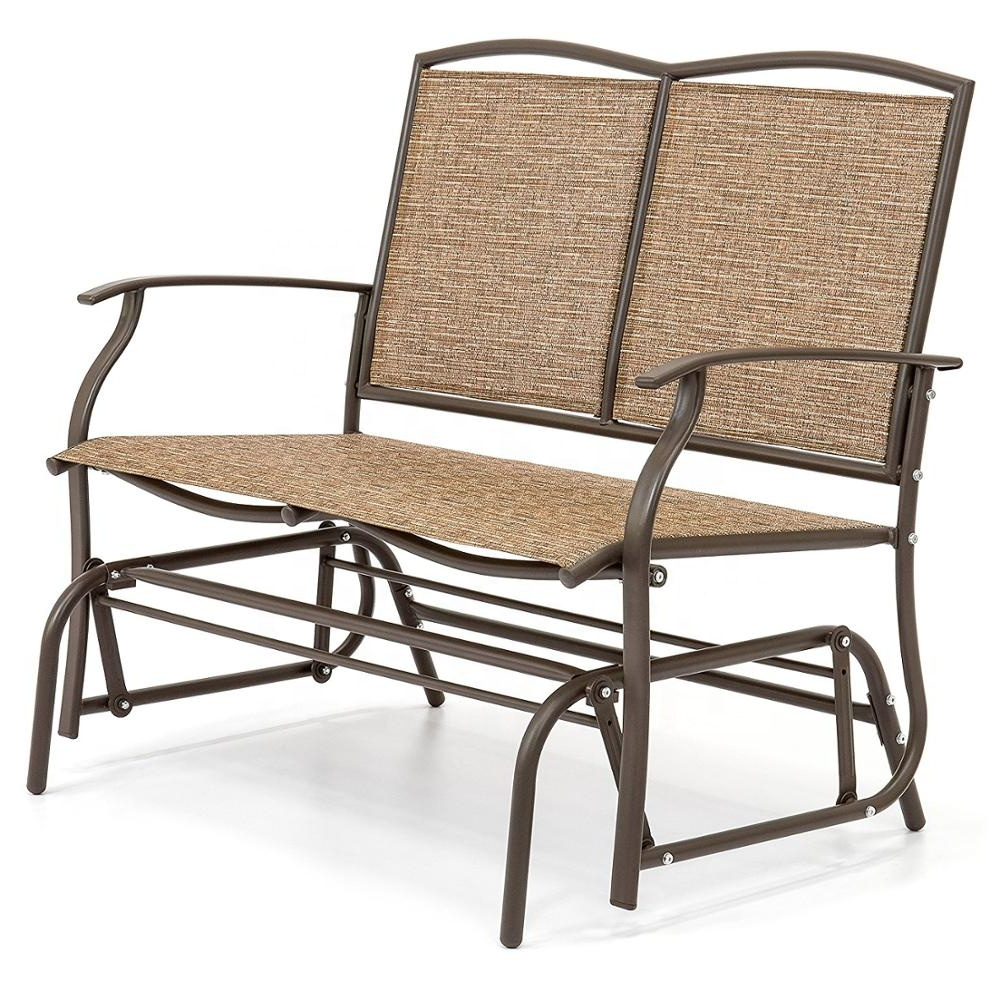 Outdoor Patio Swing Porch Rocker Glider Benches Loveseat Garden Seat Steel For Most Up To Date Modern Outdoor 2 Person Loveseat Glider Bench Double Chair,patio Porch Swing Designs With Rocker Chair – Buy Double Chair Swing,modern Outdoor Patio (View 12 of 30)