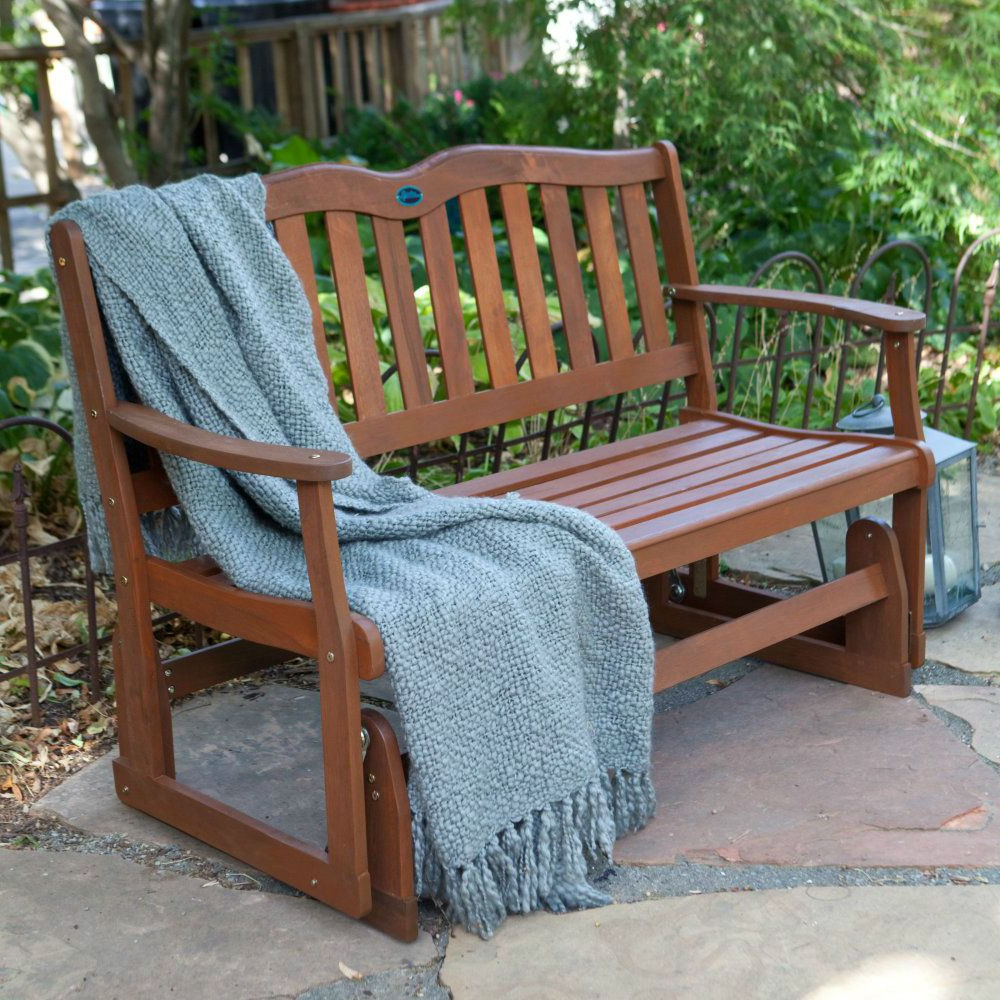 Outdoor Patio Swing Porch Rocker Glider Benches Loveseat Garden Seat Steel Intended For Recent Outdoor Patio Glider Bench Rocker Loveseat Porch Deck Swing (Gallery 21 of 30)