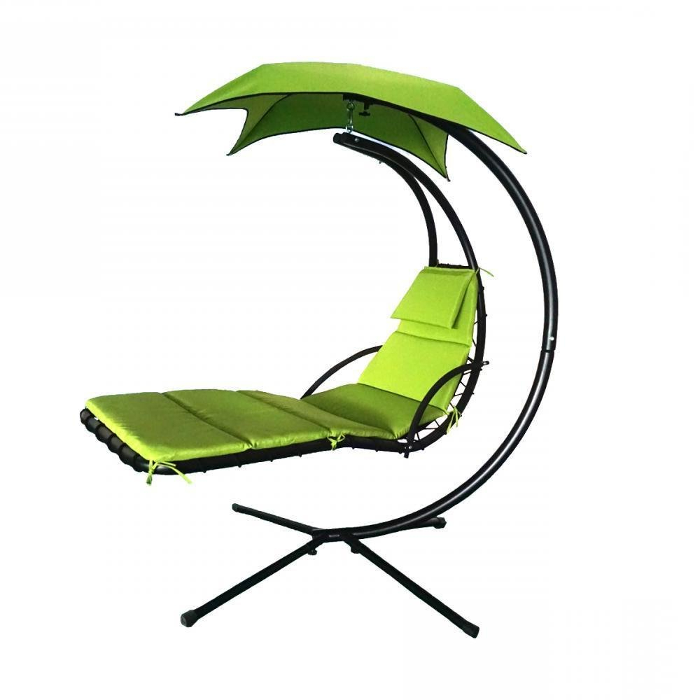 Outdoor Pvc Coated Polyester Porch Swings With Stand For 2020 Amazon: Sopa Shop Green Hanging Chaise Lounger Chair Arc (View 8 of 30)