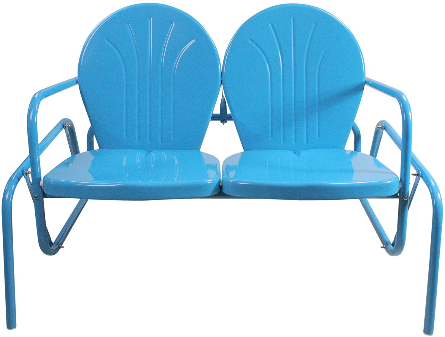 Featured Photo of Outdoor Retro Metal Double Glider Benches