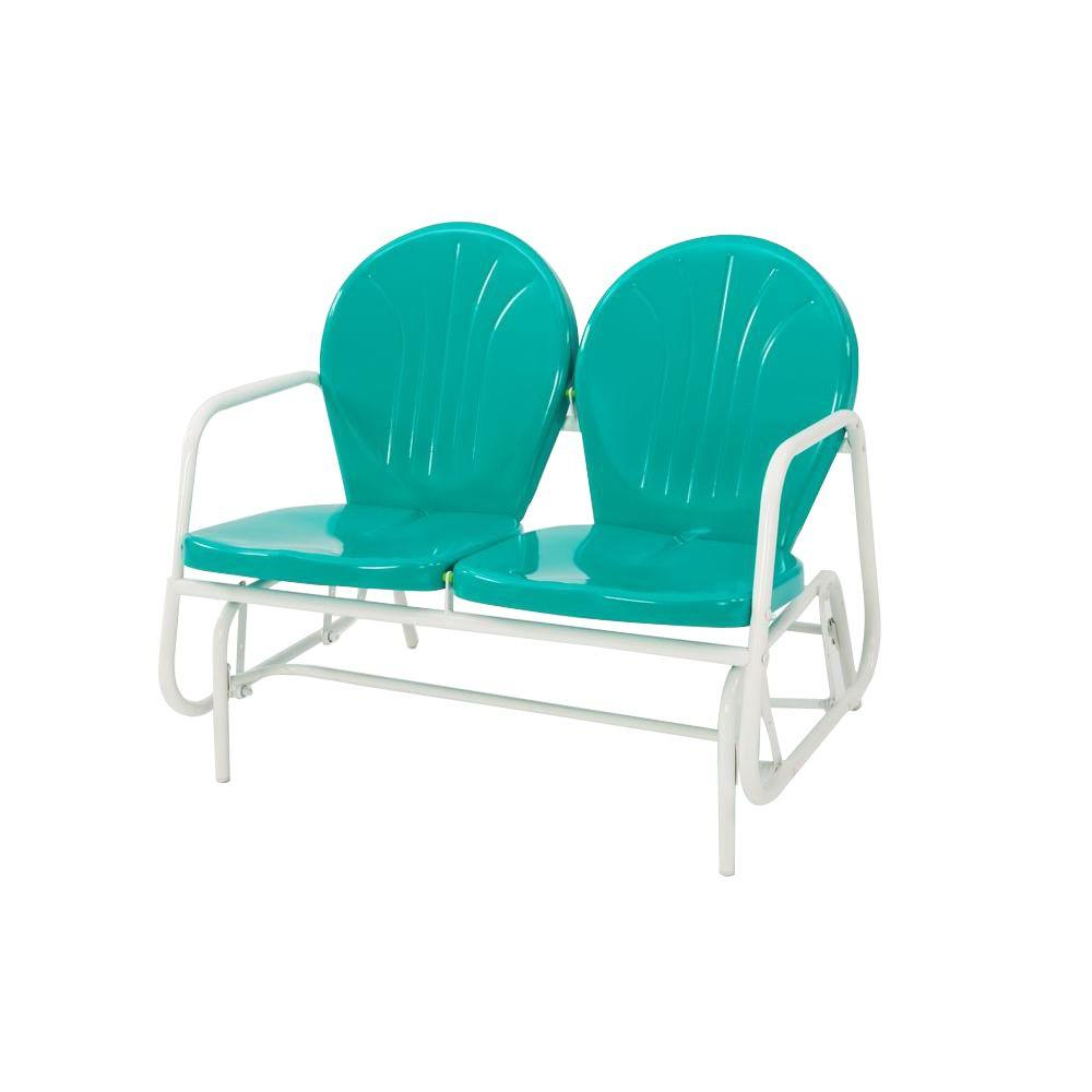 Outdoor Retro Metal Double Glider Benches With Regard To Famous Jack Post Retro Emerald Green 2 Seat Glider (View 13 of 30)