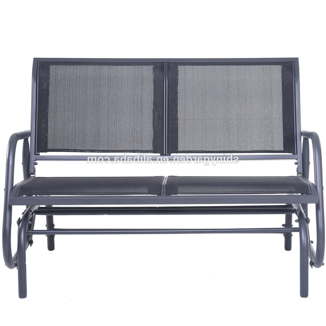 Outdoor Steel Patio Swing Glider Benches For Favorite Outdoor Swing Glider Chair,patio Bench For 2 Person,garden Rocking Seating – Buy Swing Glider Chair Product On Alibaba (View 14 of 30)