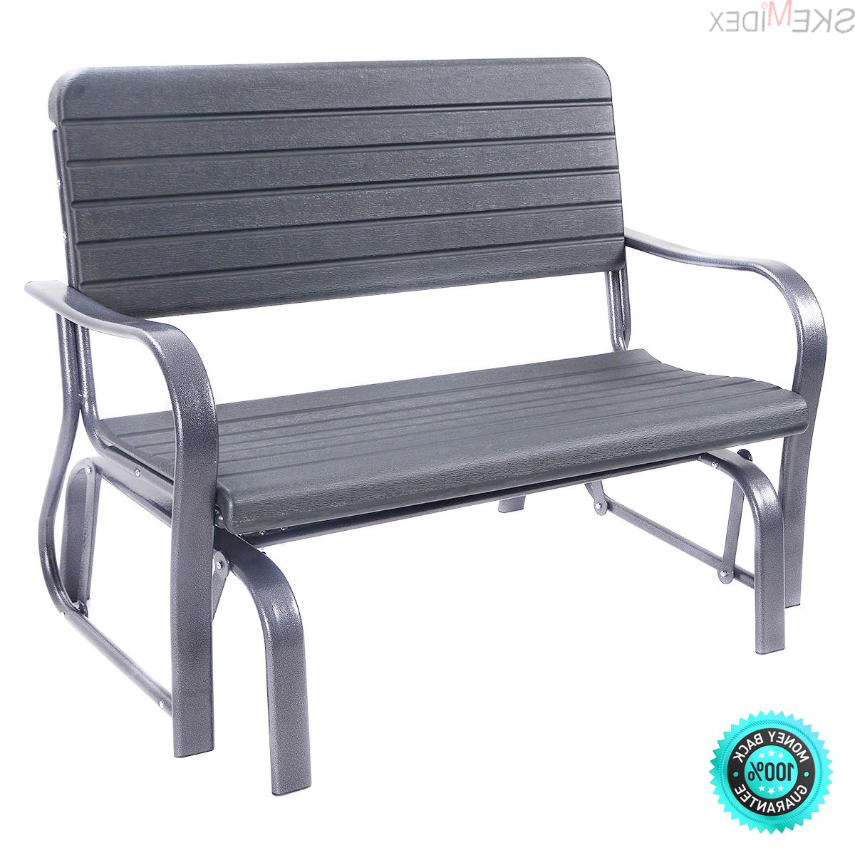 Outdoor Steel Patio Swing Glider Benches For Most Popular Amazon : Skemidex Outdoor Patio Swing Porch Rocker (Gallery 5 of 30)