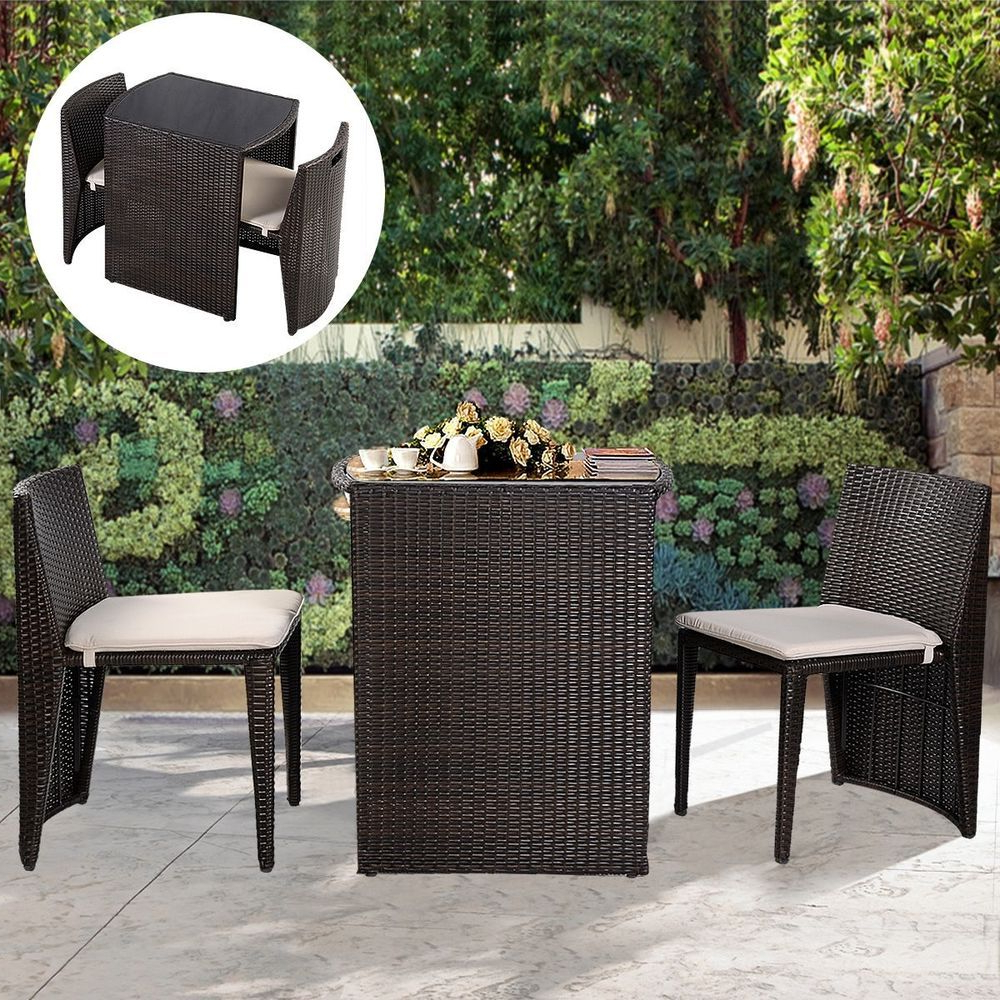 Outdoor Wicker Plastic Half Moon Leaf Shape Porch Swings For Most Recently Released Small Patio Furniture Set Rattan Table 2 Chairs Outdoor (Gallery 22 of 30)