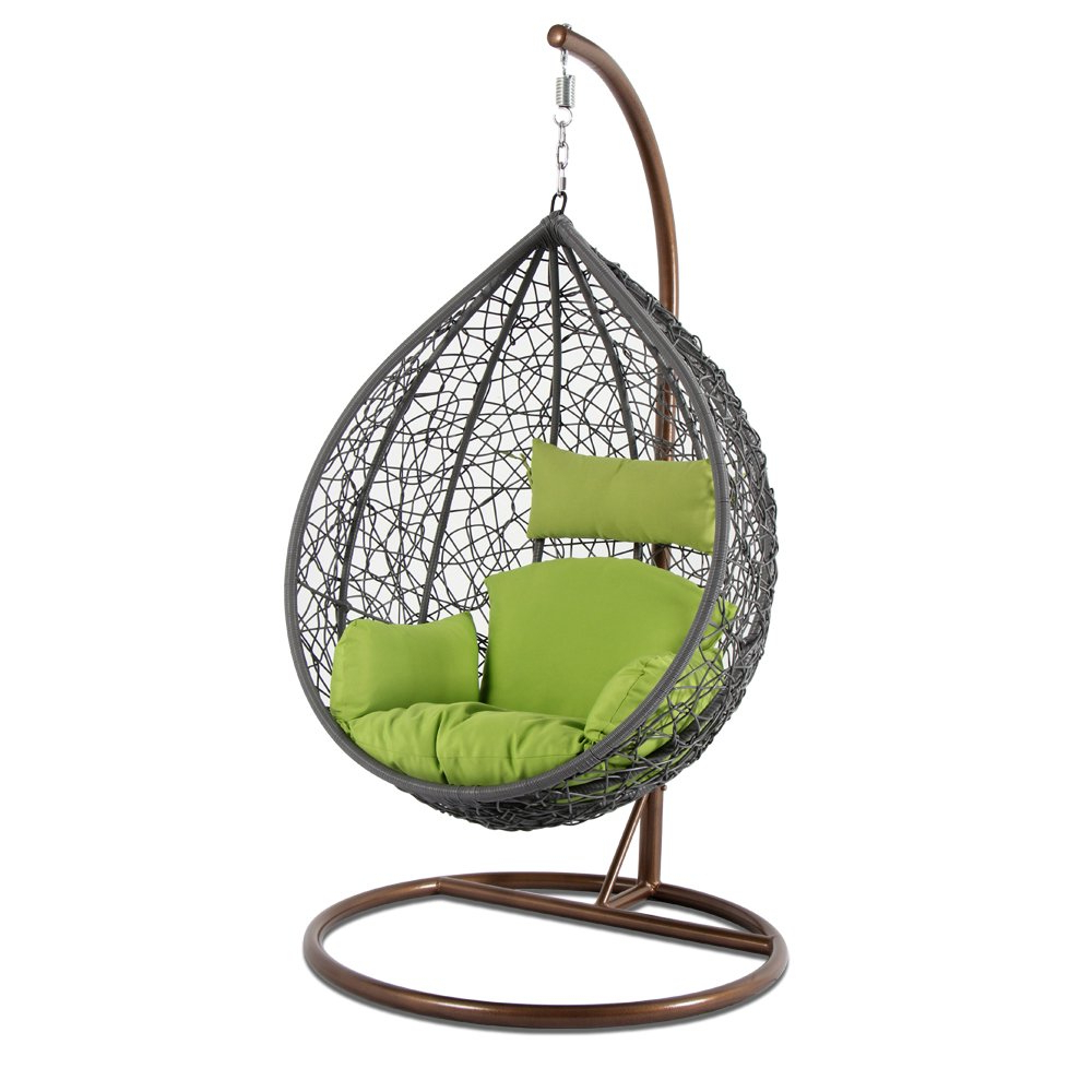 Outdoor Wicker Plastic Tear Porch Swings With Stand With Current Amazon: Kresdy All Weather Resin Wicker Swing Tear Drop (View 4 of 30)