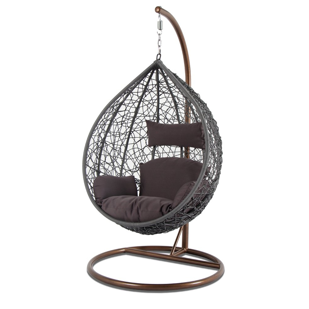 Outdoor Wicker Plastic Tear Porch Swings With Stand With Regard To Most Popular Amazon: Kresdy All Weather Resin Wicker Swing Tear Drop (Gallery 9 of 30)