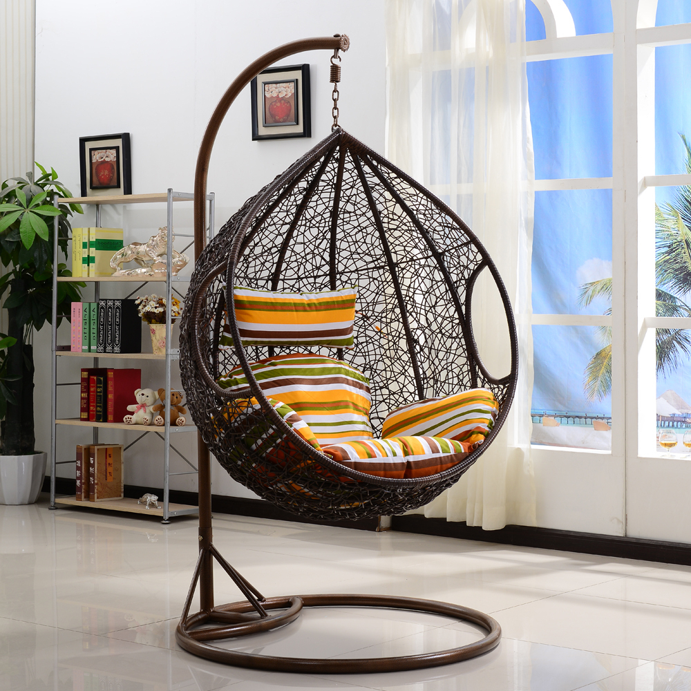 Outdoor Wicker Swing Chair – Within Fashionable Rattan Garden Swing Chairs (Gallery 12 of 31)