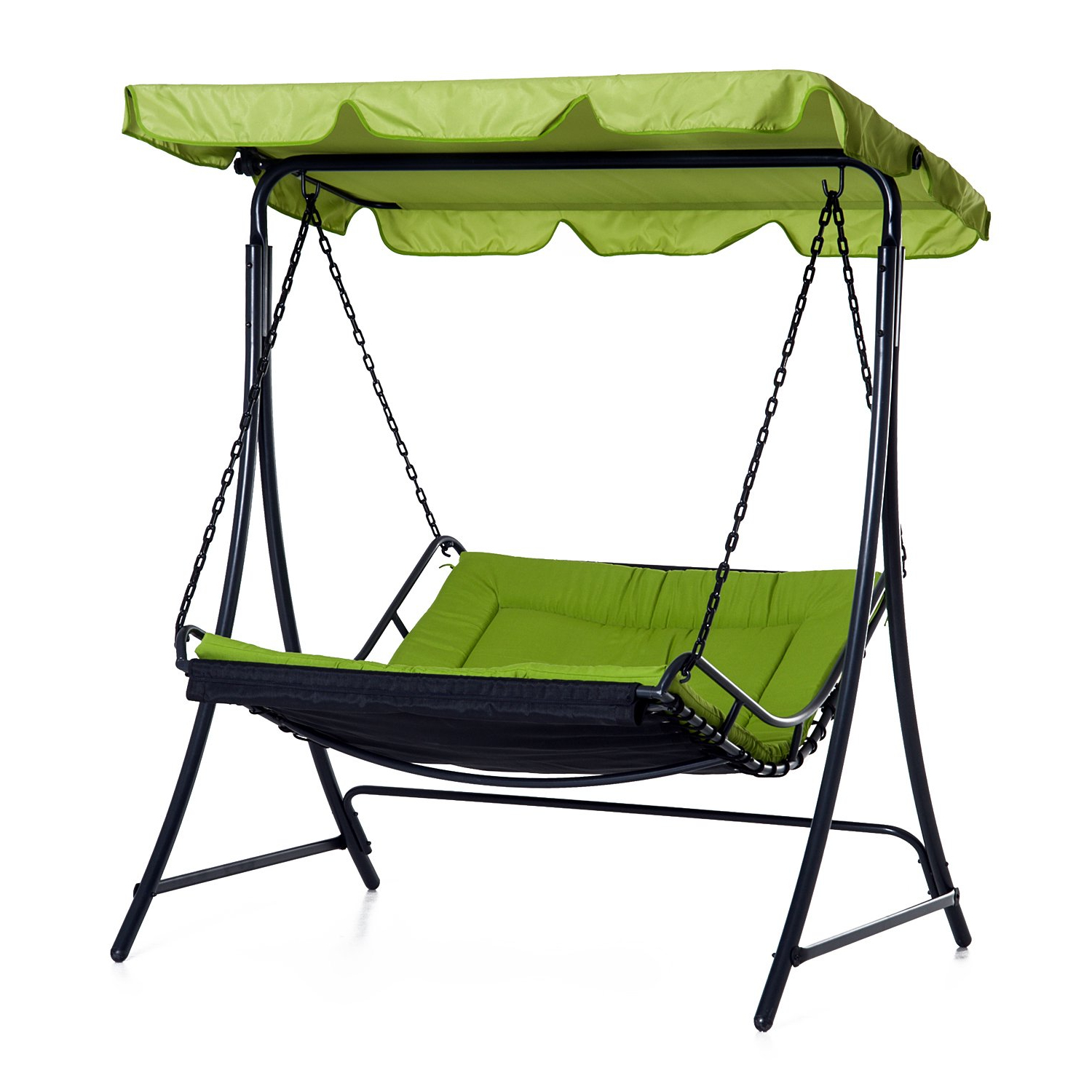 Outsunny Swing Chair Bed Canopy 2 Person Double Hammock Inside Most Popular Garden Leisure Outdoor Hammock Patio Canopy Rocking Chairs (View 4 of 30)