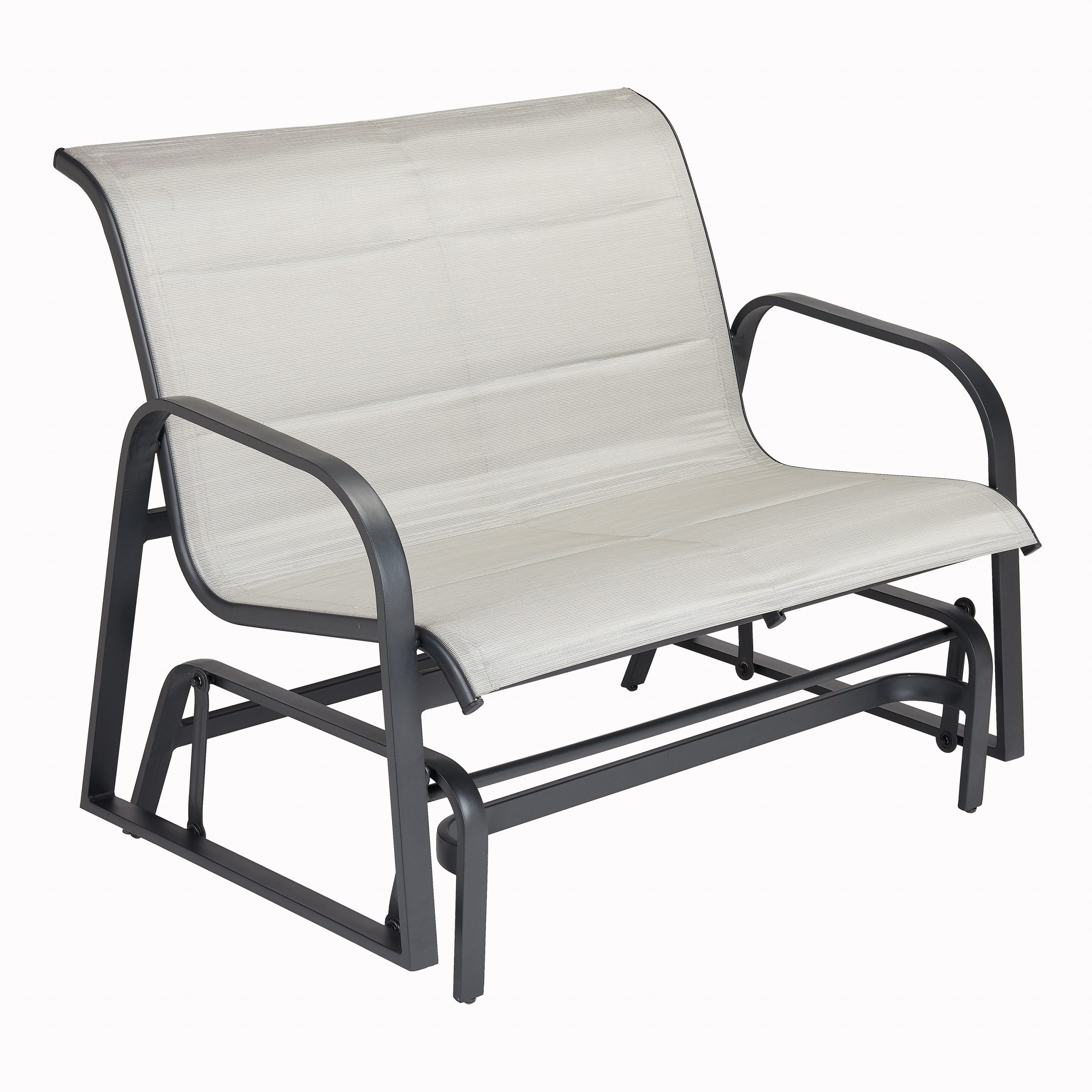 Padded Sling Double Glider Benches Throughout Most Recent Better Homes & Gardens Montrose Padded Sling Glider Bench – Walmart (View 8 of 30)