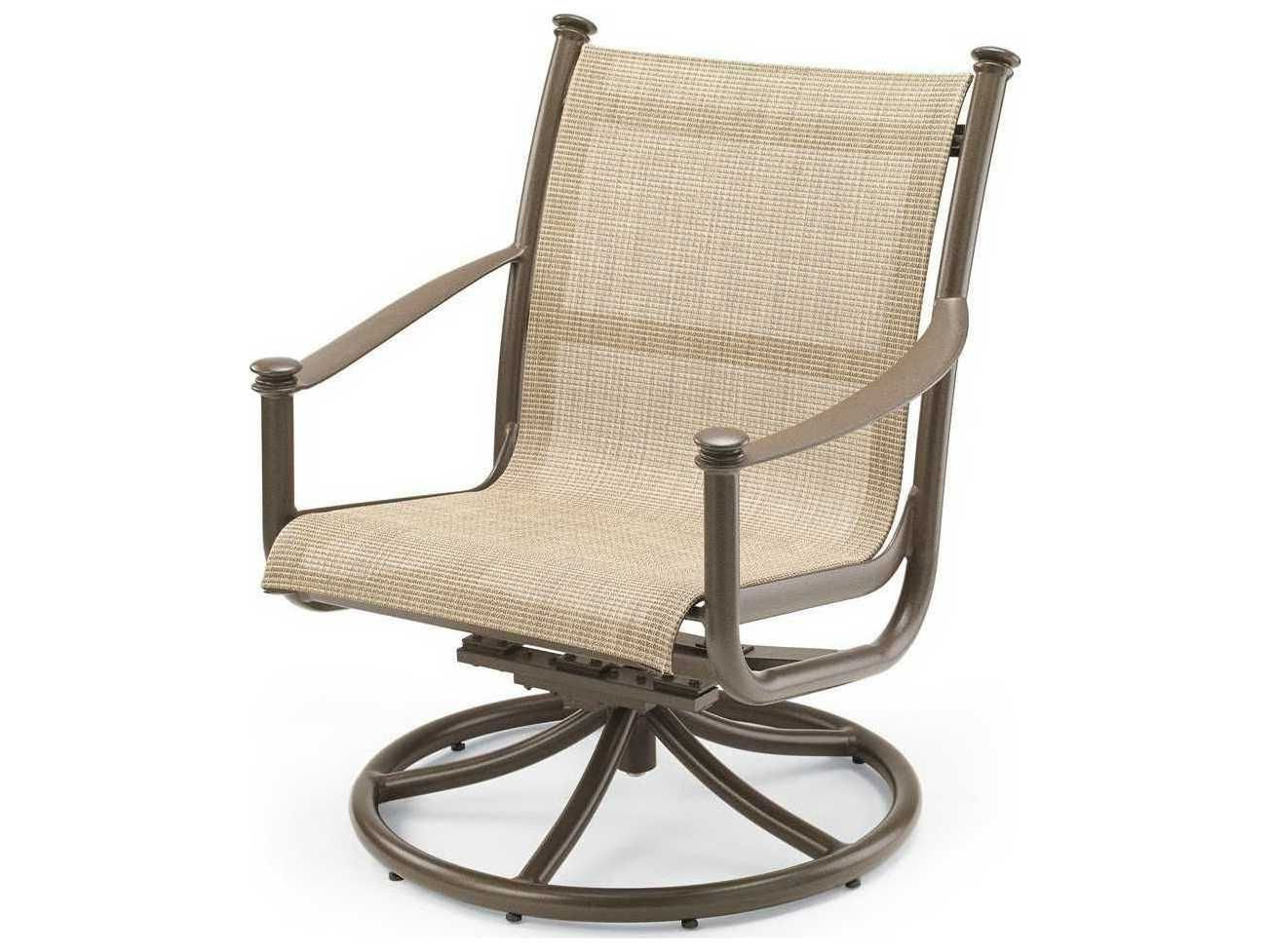 Padded Sling High Back Swivel Chairs Intended For Most Current Winston Catania Sling Aluminum Swivel Tilt Chat Chair (View 25 of 30)