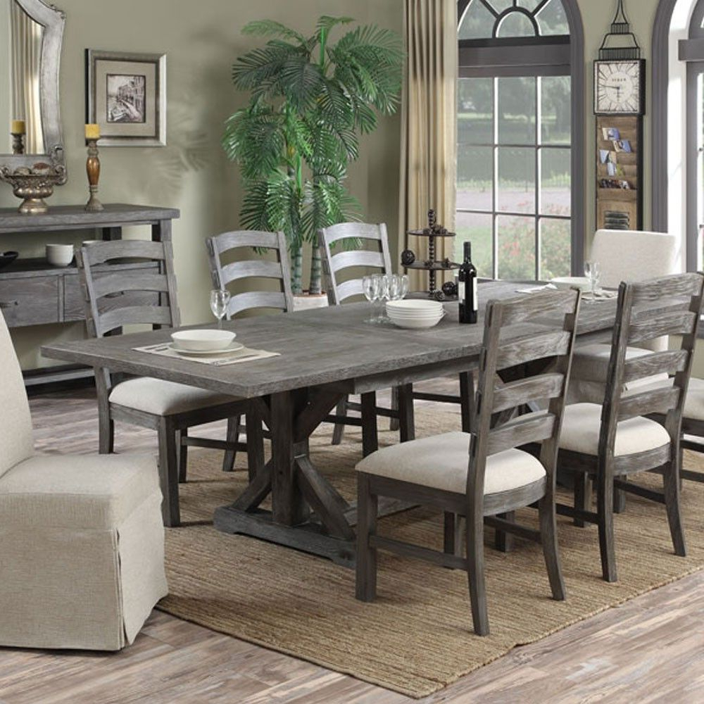 Paladin Wood Rectangular Dining Table In Charcoal (View 4 of 30)