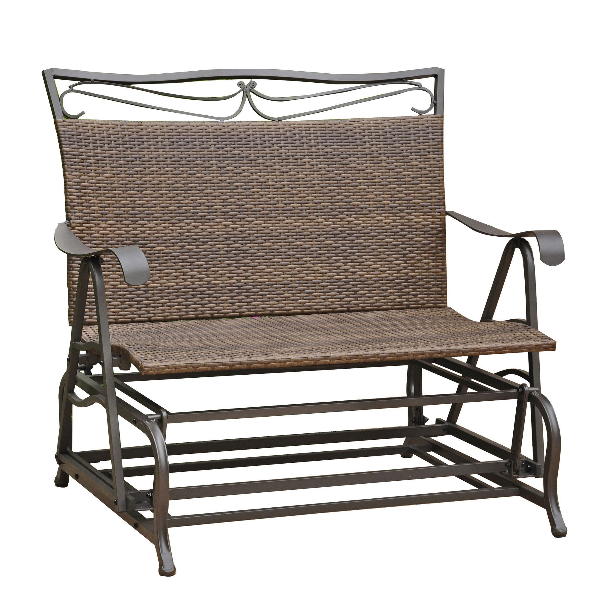 Patio Glider Regarding Well Known Outdoor Patio Swing Glider Bench Chair S (View 24 of 30)