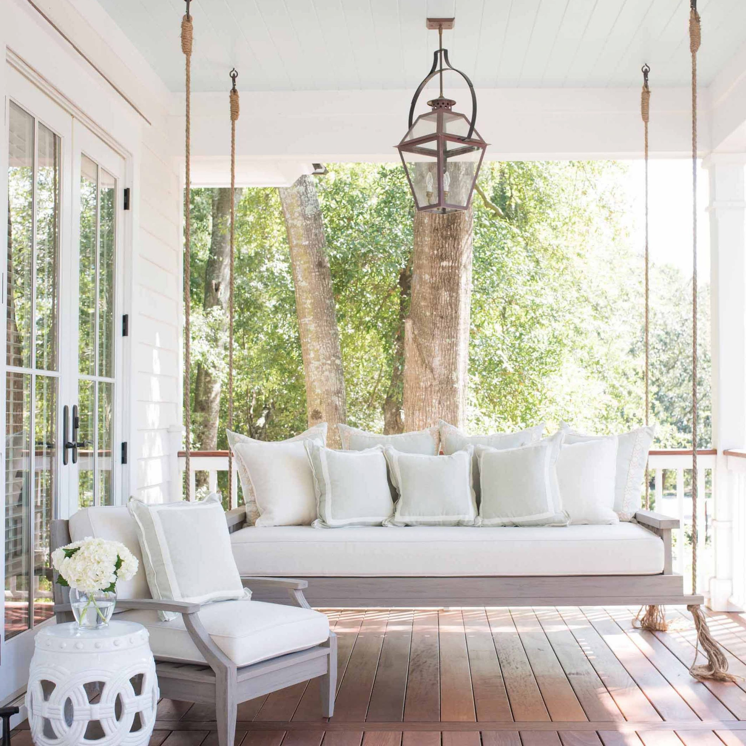 Patio Hanging Porch Swings Inside Latest Southern Home Decor Inspiration (View 6 of 30)