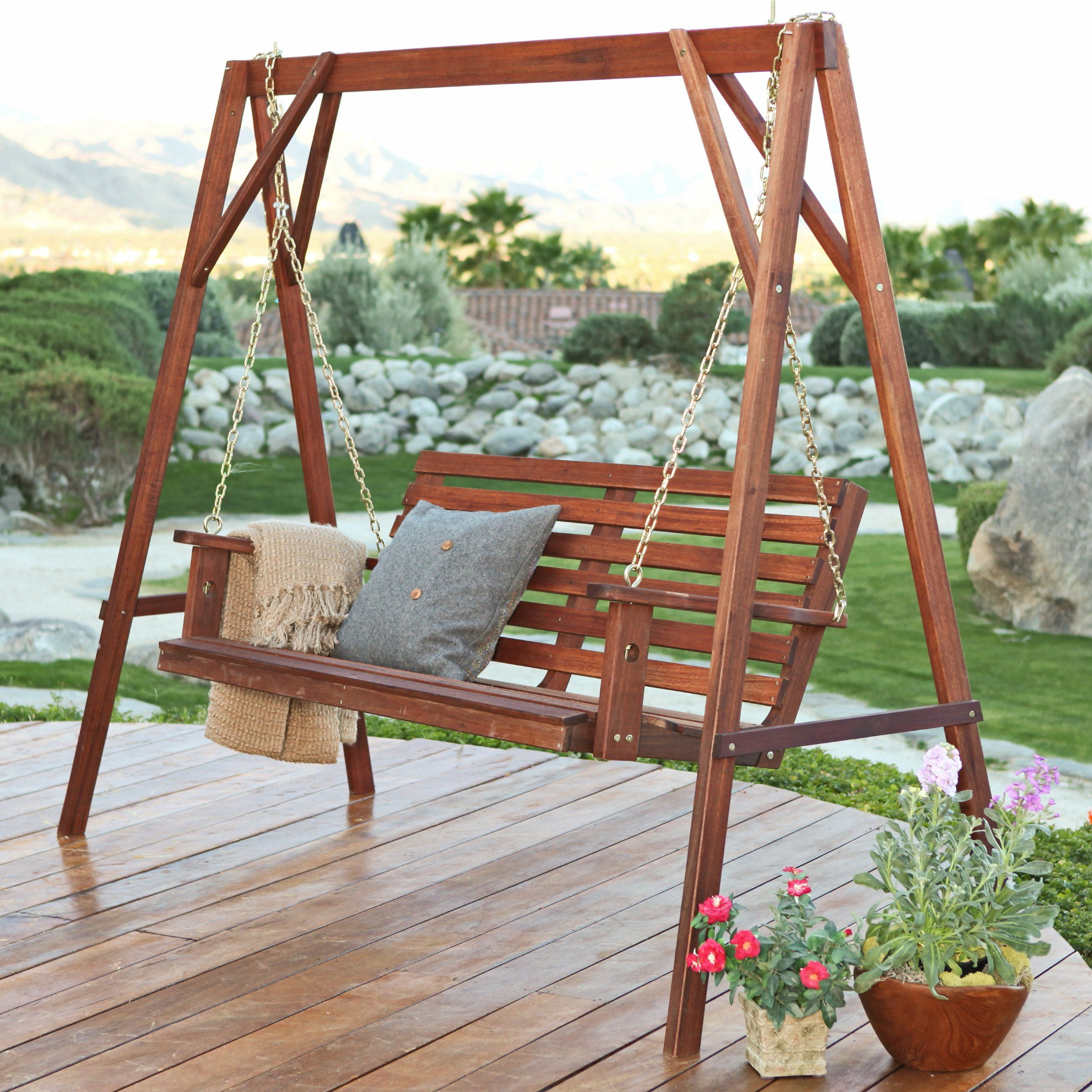 Patio Porch Swings With Stand With Most Popular Belham Living Bay Ridge Porch Swing – Porch Swings At (View 2 of 30)