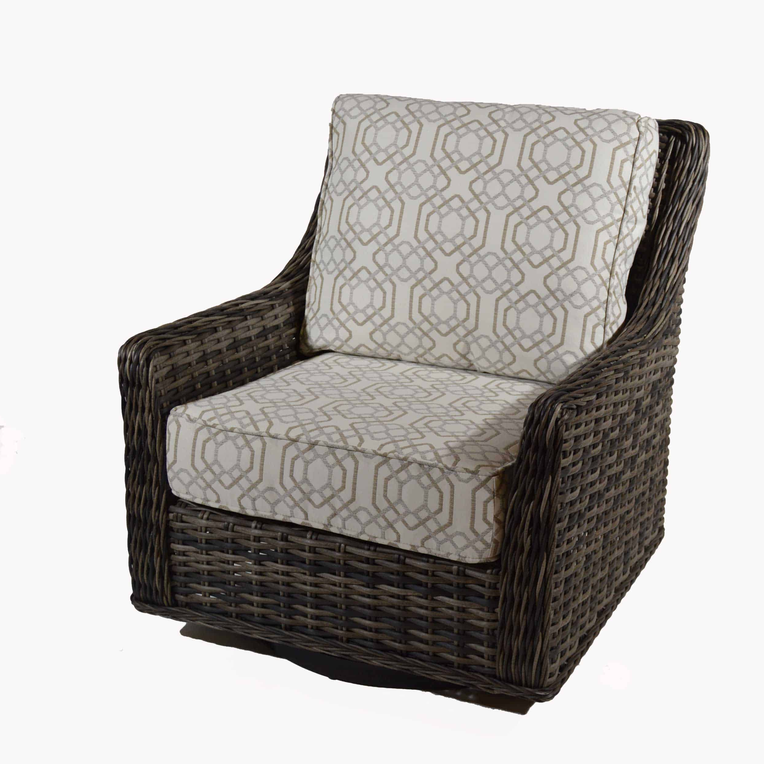 Patio Renaissance Catalina Cushion Woven Highback Swivel Pertaining To 2020 Woven High Back Swivel Chairs (View 3 of 30)