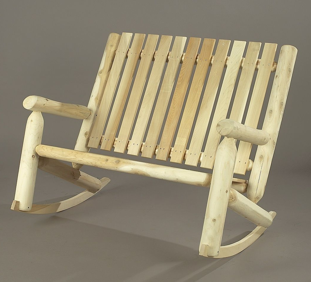 Patio Rocking Chairs, Cedar (View 12 of 30)