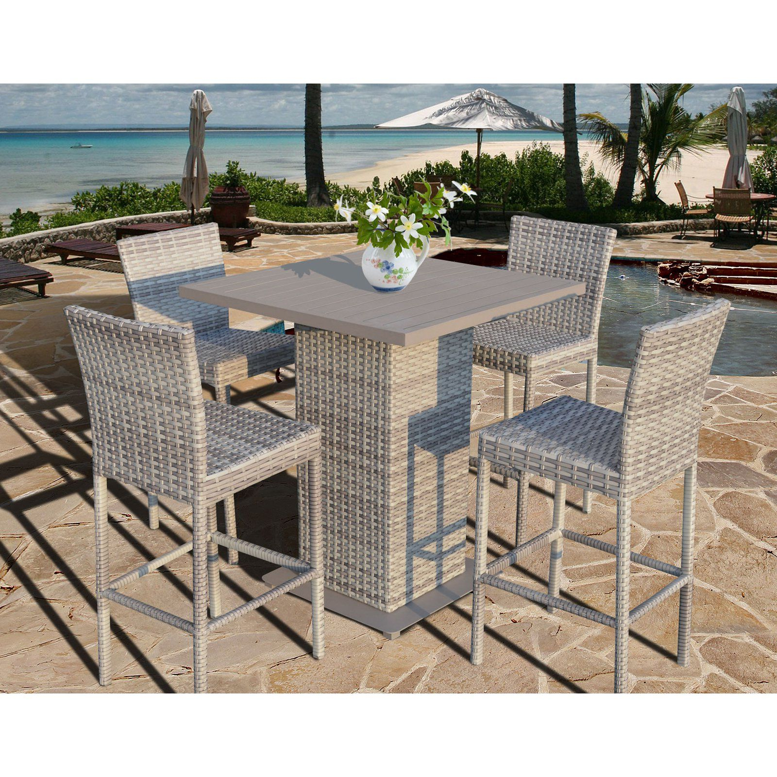 Patio Square Bar Dining Tables For 2017 Tk Classics Fairmont Collection Square Bar Height Dining Set (View 3 of 30)