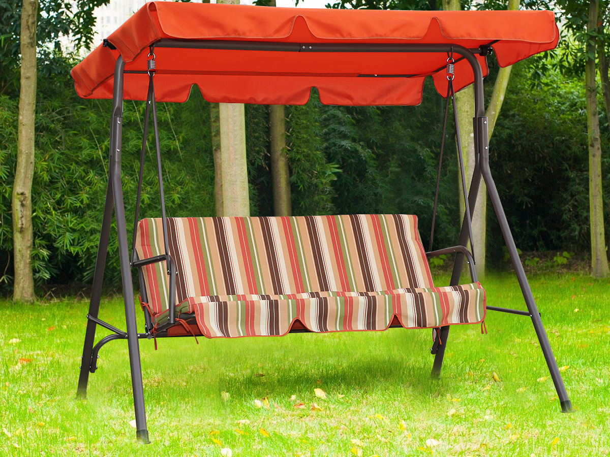 Patriotic 3 Seater Swing – Swings – Outdoor Furniture Intended For Famous 3 Seat Pergola Swings (View 8 of 30)