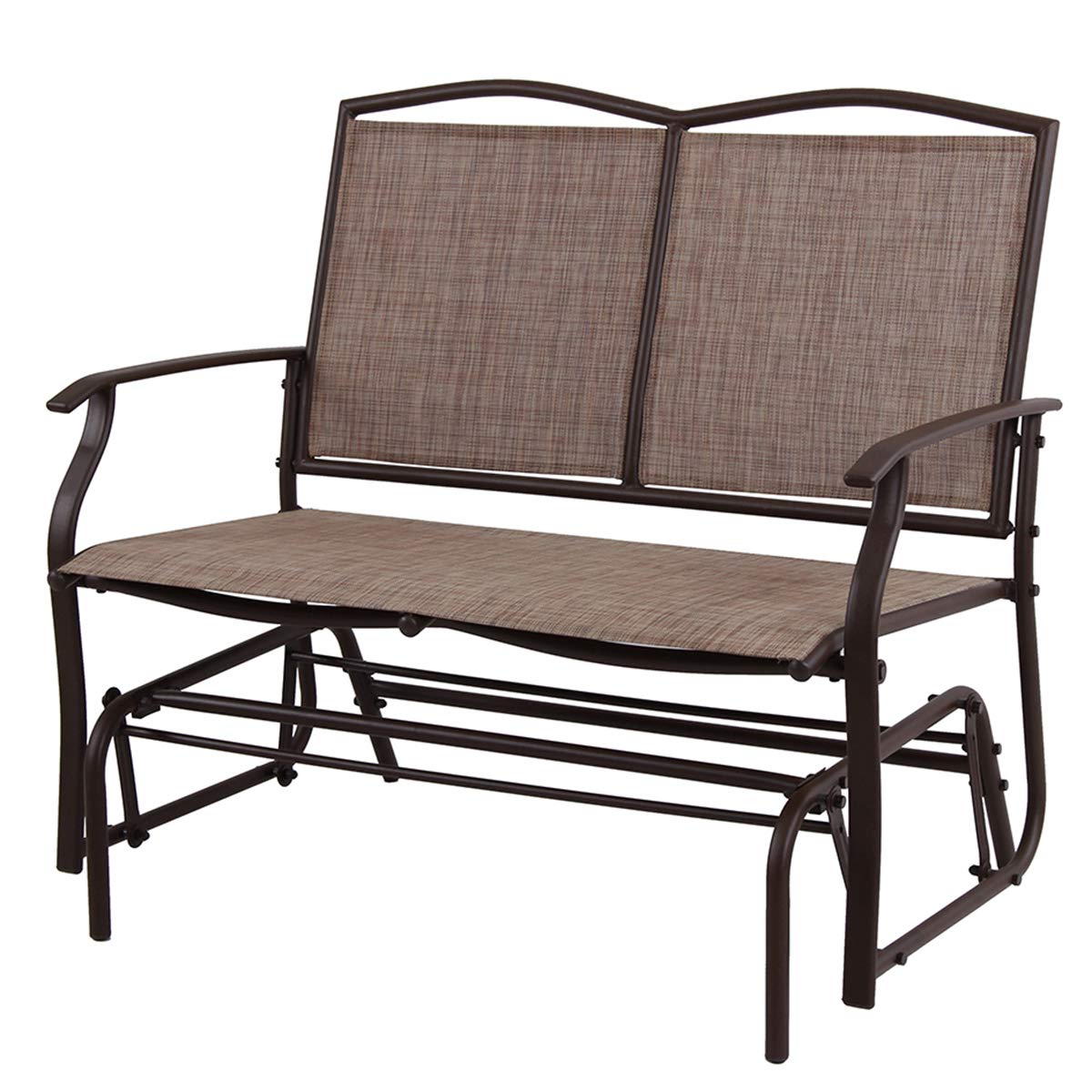 Phi Villa Patio Swing Glider Bench For 2 Persons Rocking Inside 2019 Loveseat Glider Benches (View 11 of 30)