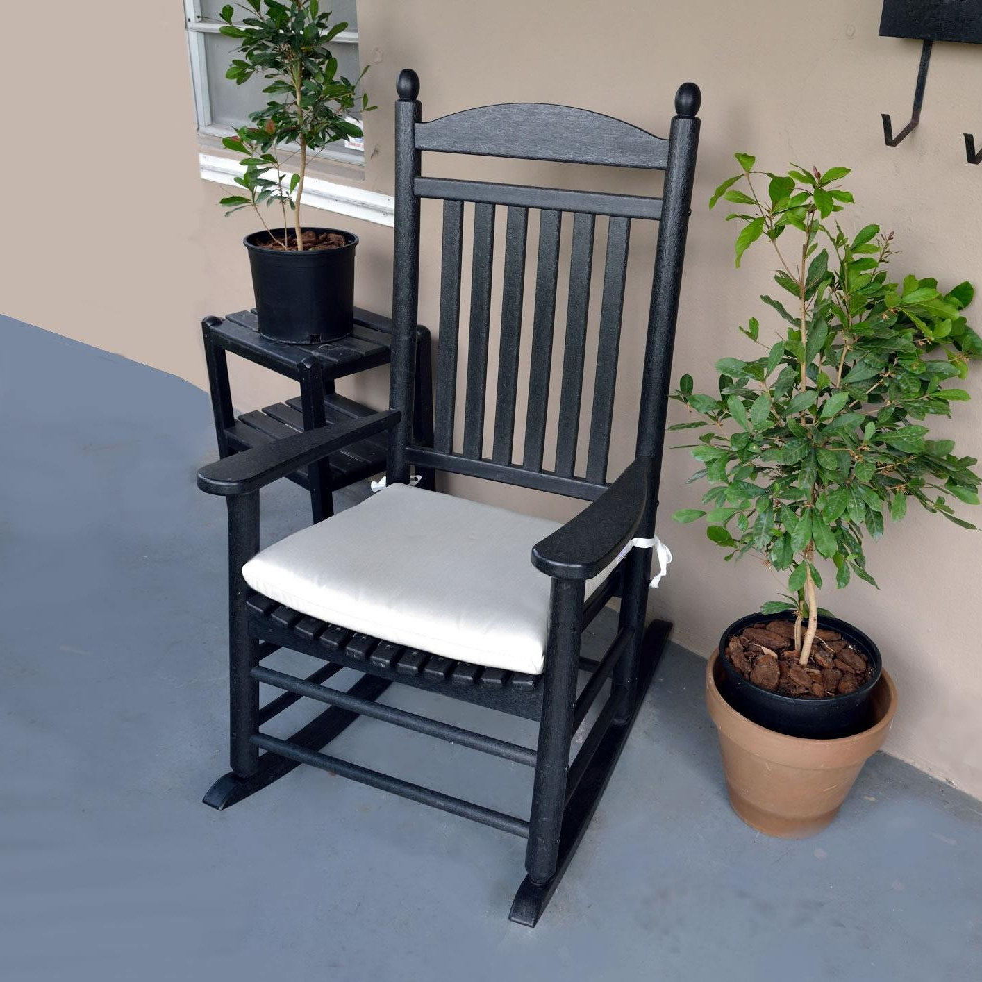 Polywood Rocking Chair Seat Cushions – Outdoor Cushions For Famous Rocking Benches With Cushions (View 13 of 30)
