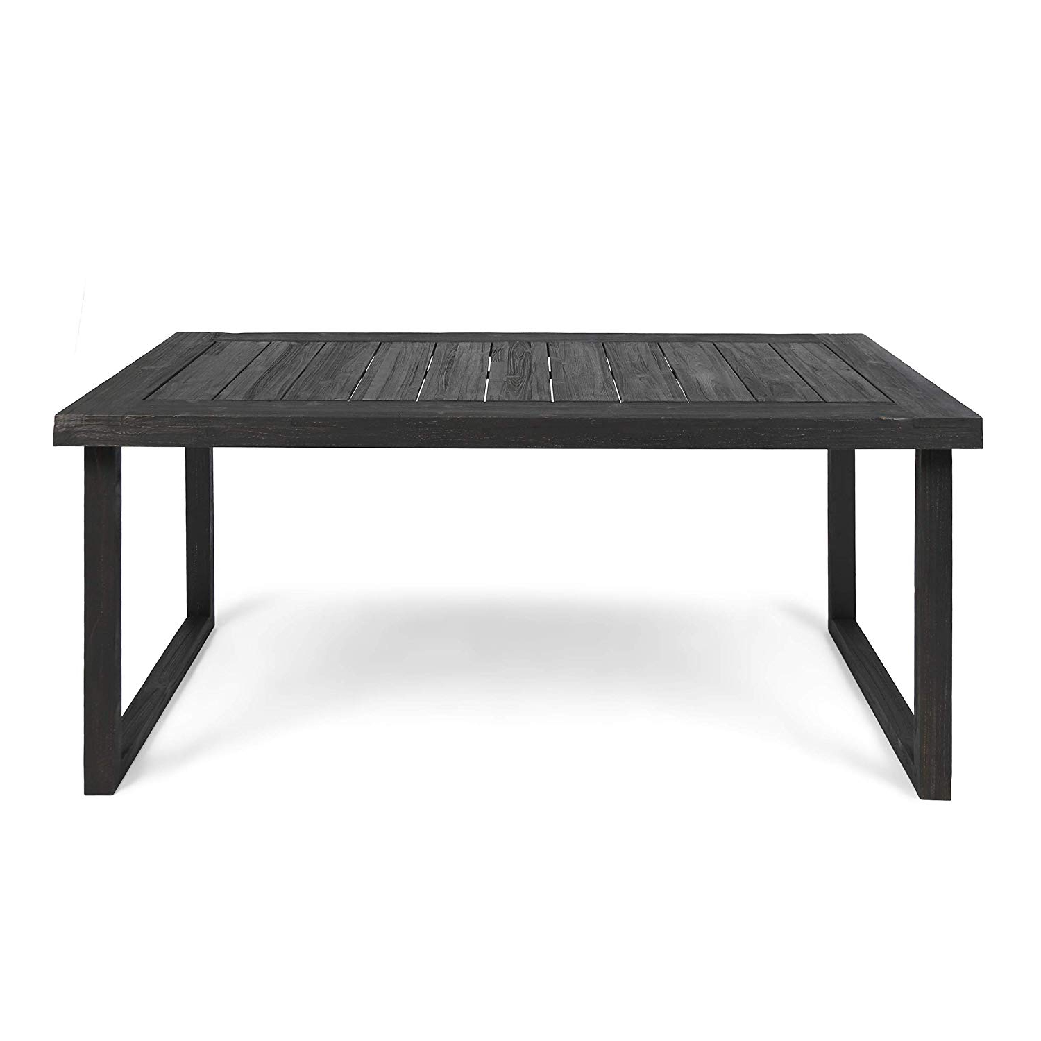 "Popular Acacia Dining Tables With Black Legs Intended For Christopher Knight Home Ann Outdoor 69"" Acacia Wood Dining Table, Sandblast Dark Gray Finish (View 12 of 30)"
