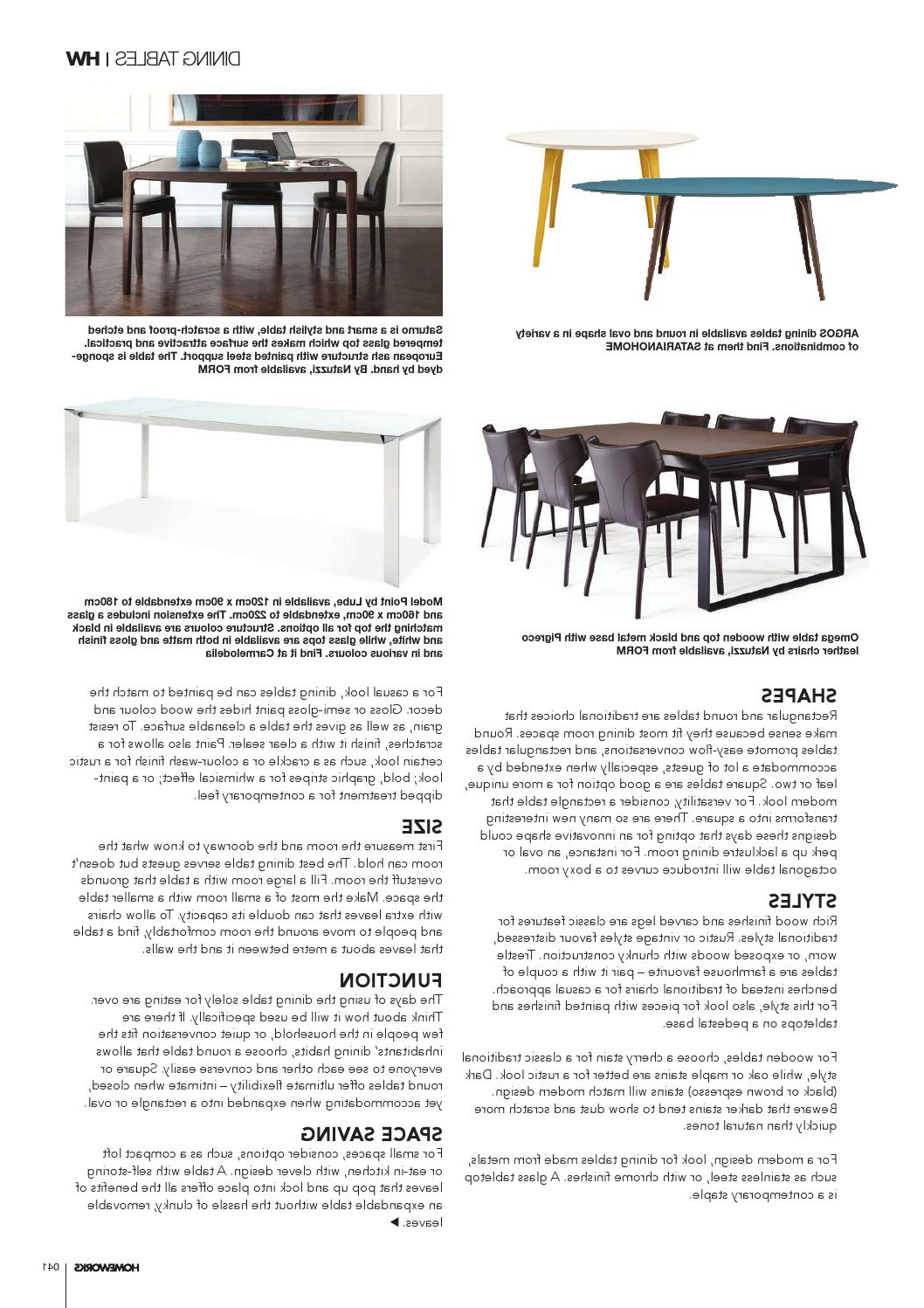 Popular Chrome Contemporary Square Casual Dining Tables Within Homeworks Living&dining Special Supplement 2015writeon (View 28 of 30)