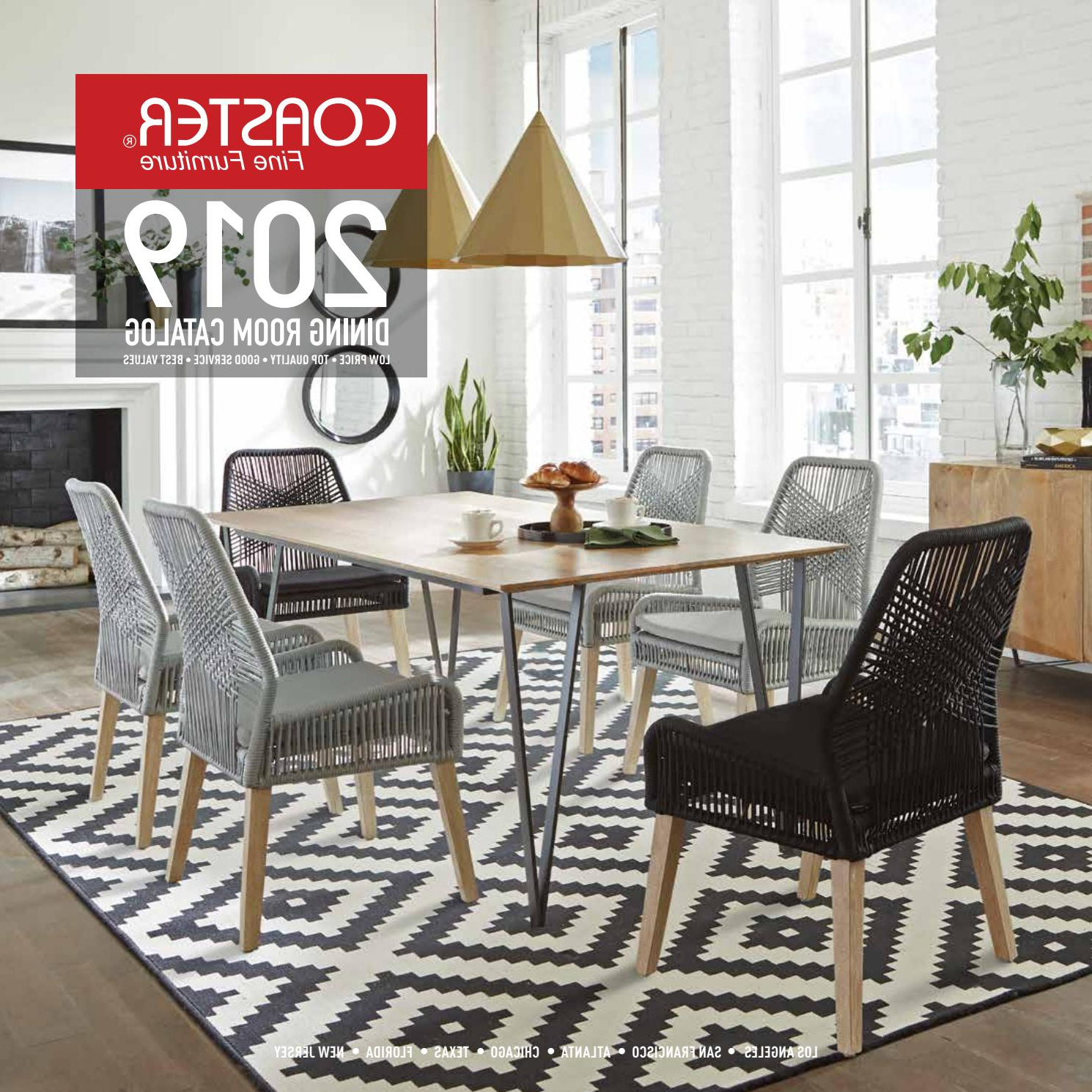 Popular Coaster 2019 Dining Room Catalogcoaster Company Of Pertaining To Thick White Marble Slab Dining Tables With Weathered Grey Finish (View 23 of 30)