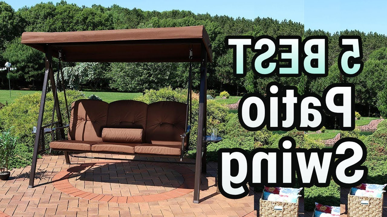 Popular Coral Coast Lakewood Adjustable Tilt Canopy Metal Swing With Regarding 2 Person Adjustable Tilt Canopy Patio Loveseat Porch Swings (View 24 of 30)