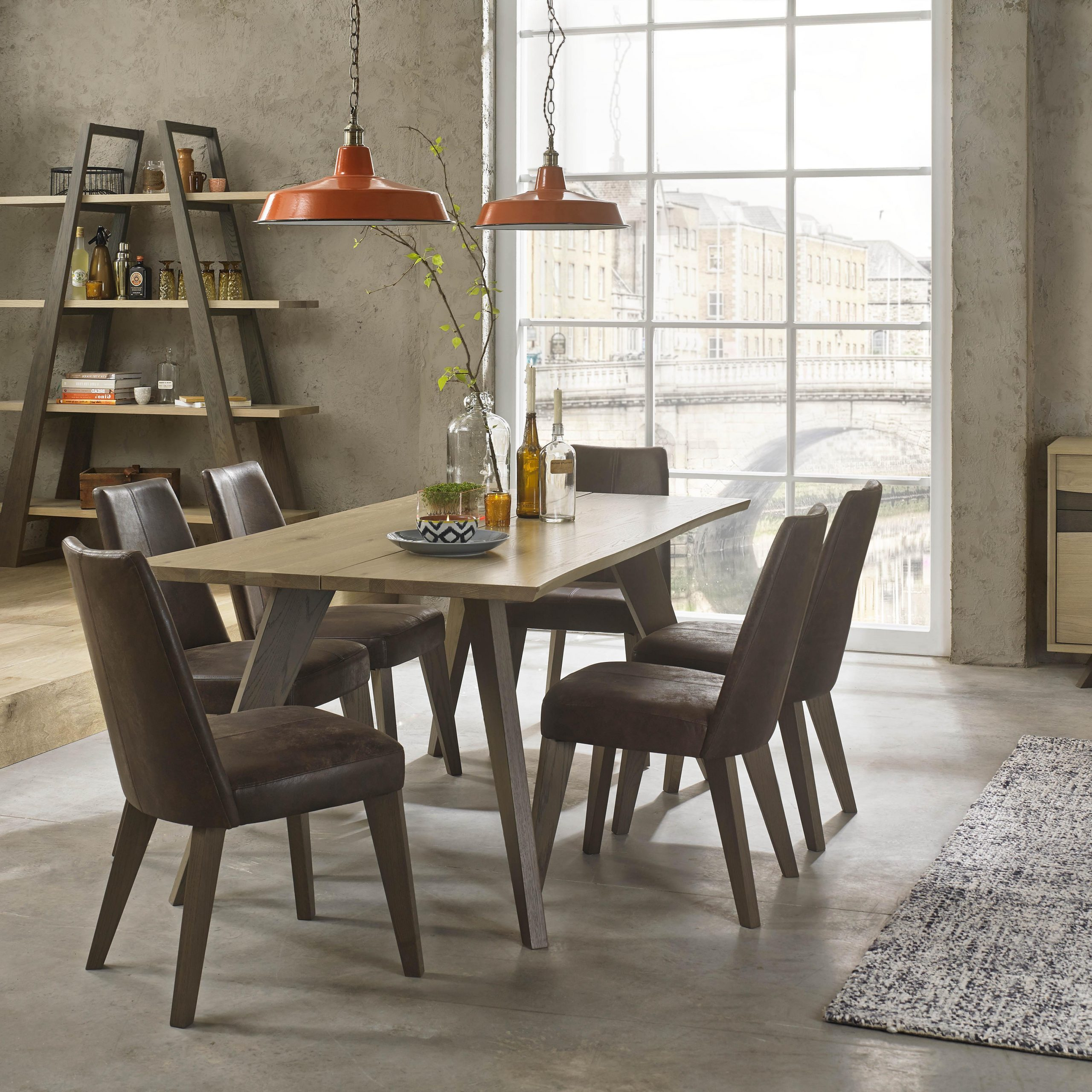 Popular Dining Tables In Smoked Seared Oak Inside Cadell – Premier – Range (View 23 of 30)