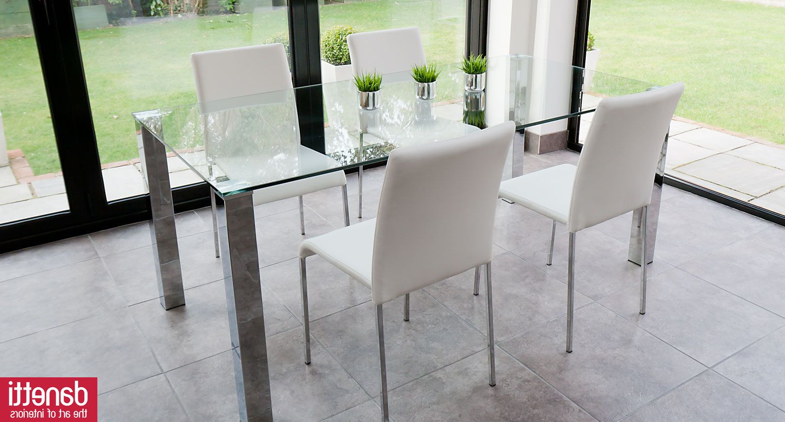 Popular Eames Style Dining Tables With Chromed Leg And Tempered Glass Top In The Tiva Chrome And Glass Dining Table Combines Style And (View 21 of 30)