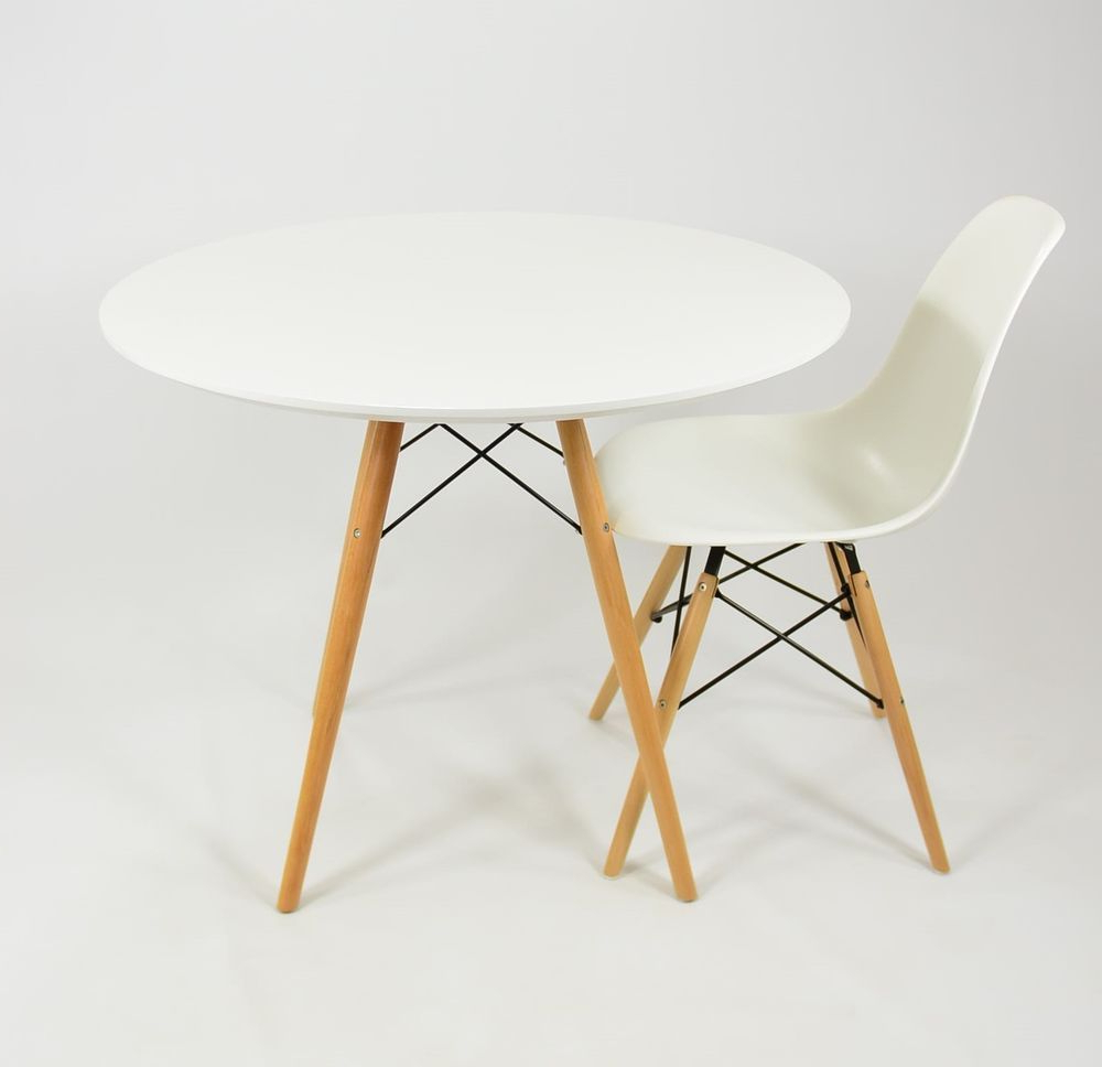 Popular Eames Style Dining Tables With Wooden Legs Pertaining To Details About Eames Style Dsw Dining Table – Wooden Legs (View 24 of 30)