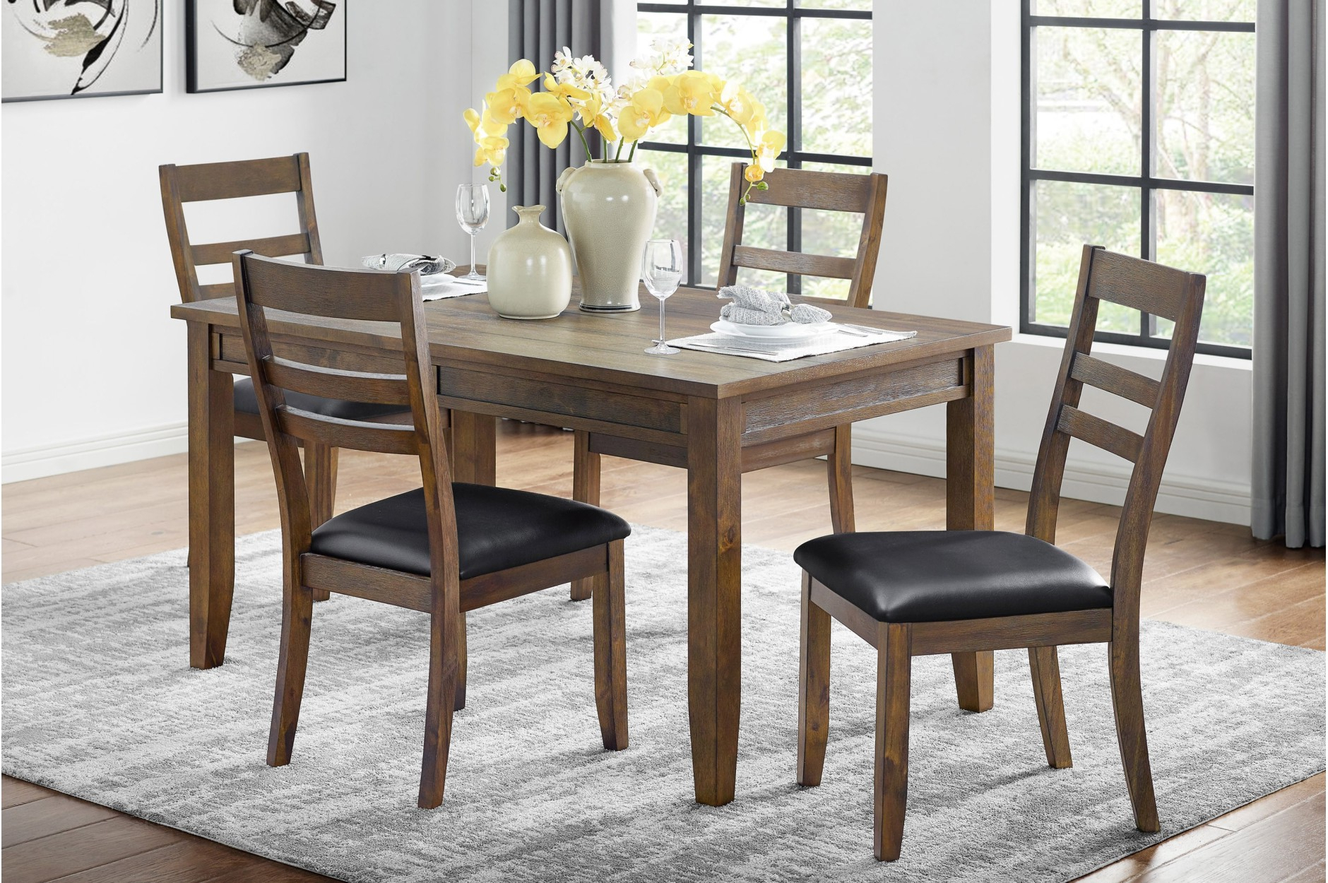 Popular Espresso Finish Wood Classic Design Dining Tables Regarding Homelegance (View 21 of 30)