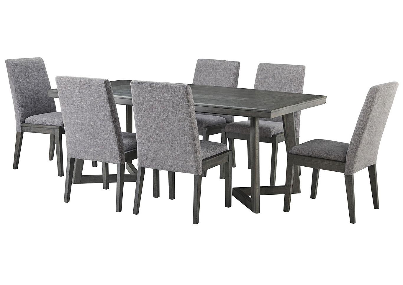 Popular Ivan Smith Besteneer Dark Gray Rectangular Dining Room Table With Regard To Contemporary 6 Seating Rectangular Dining Tables (View 20 of 30)