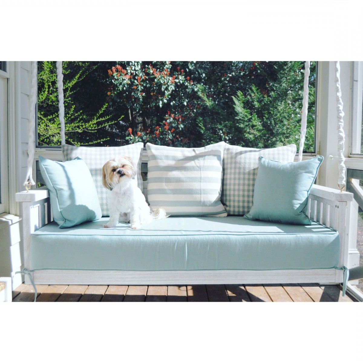 Popular Outdoor Loveseat Gliders With Cushion Within Custom Outdoor Glider / Porch Swing Cushions – Outdoor (View 29 of 30)