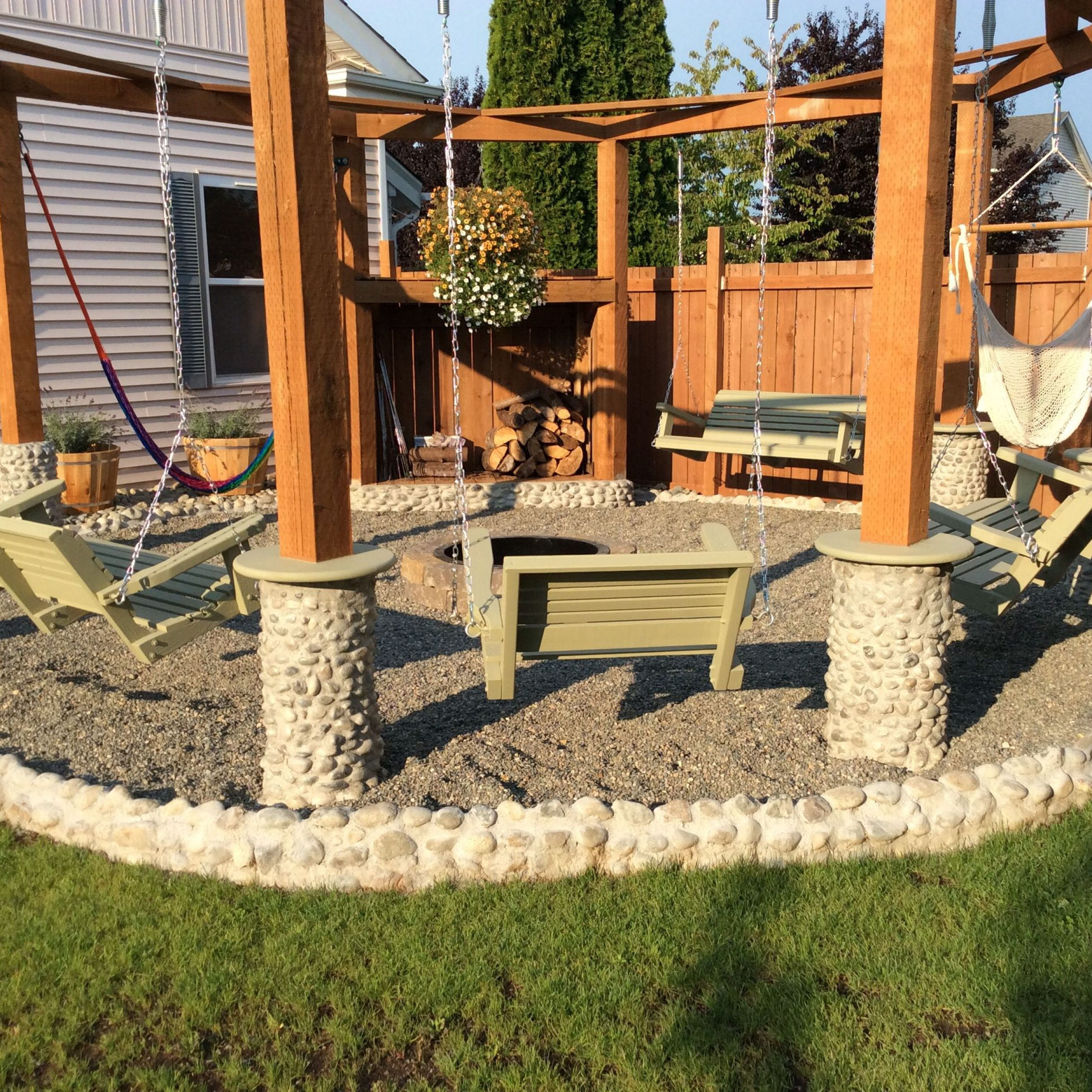 Popular Outdoor Porch Swings For Porch Swings Fire Pit Circle – Porch Swings – Patio Swings (View 11 of 30)