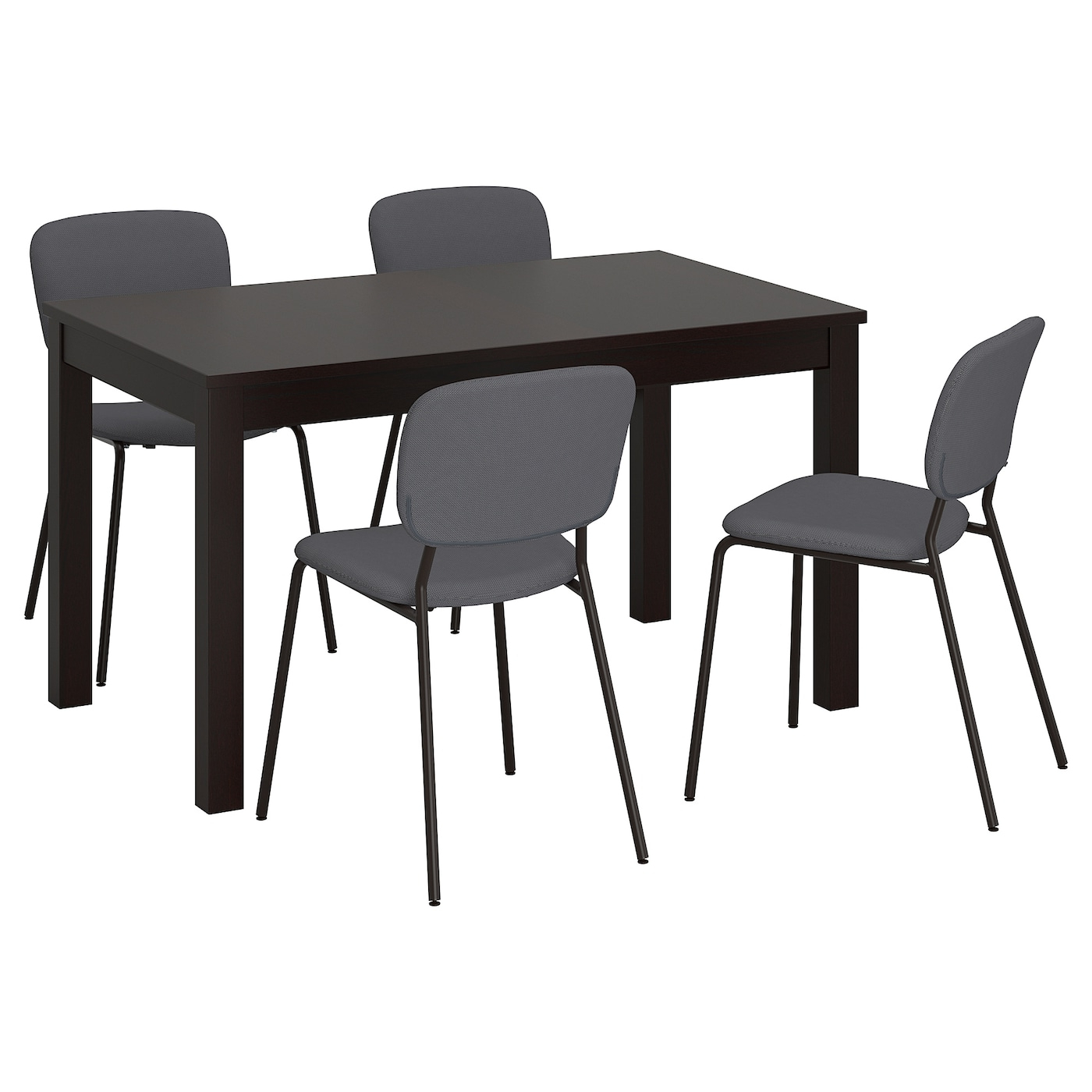 Popular Small Dining Tables With Rustic Pine Ash Brown Finish Inside Table And 4 Chairs Laneberg / Karljan Brown, Dark Grey Dark Grey (View 18 of 30)