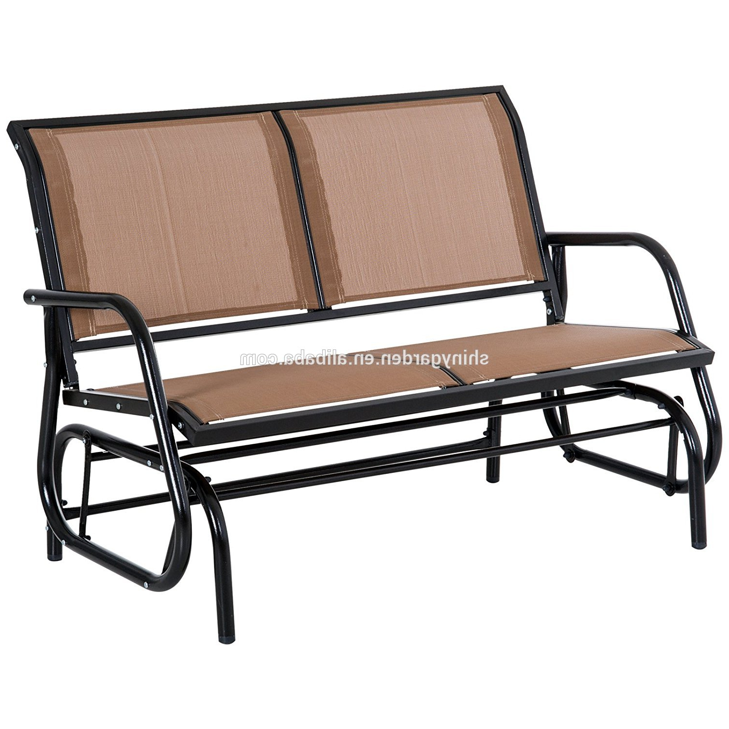 Popular Steel Patio Swing Glider Benches In Outdoor Swing Glider Chair,patio Bench For 2 Person,garden Rocking Seating – Buy Swing Glider Chair Product On Alibaba (View 25 of 30)