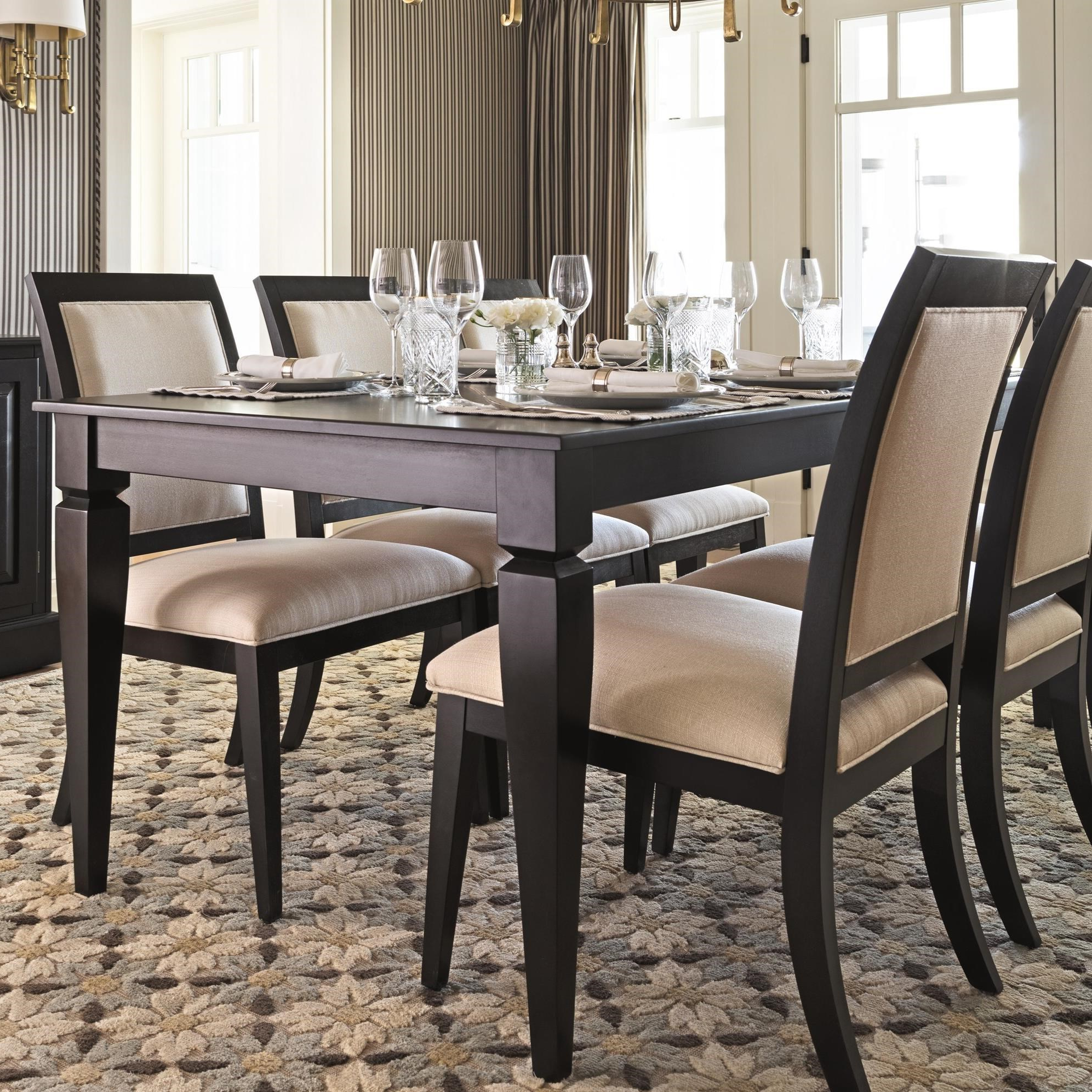 Popular Transitional 4 Seating Drop Leaf Casual Dining Tables Inside Canadel Custom Dining Customizable Rectangular Dining Table (View 13 of 30)
