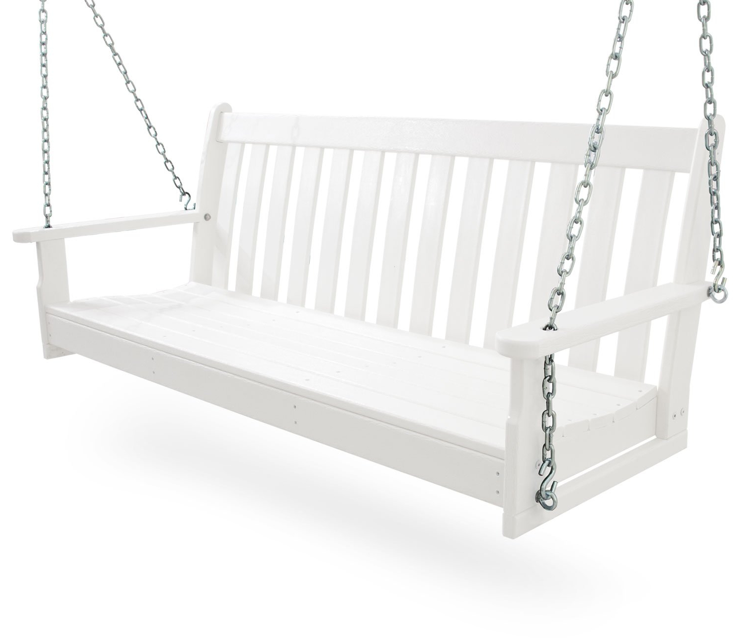 Popular Vineyard Porch Swings For Polywood Gns60bl Vineyard 60 Swing Black Patio, Lawn (View 20 of 30)