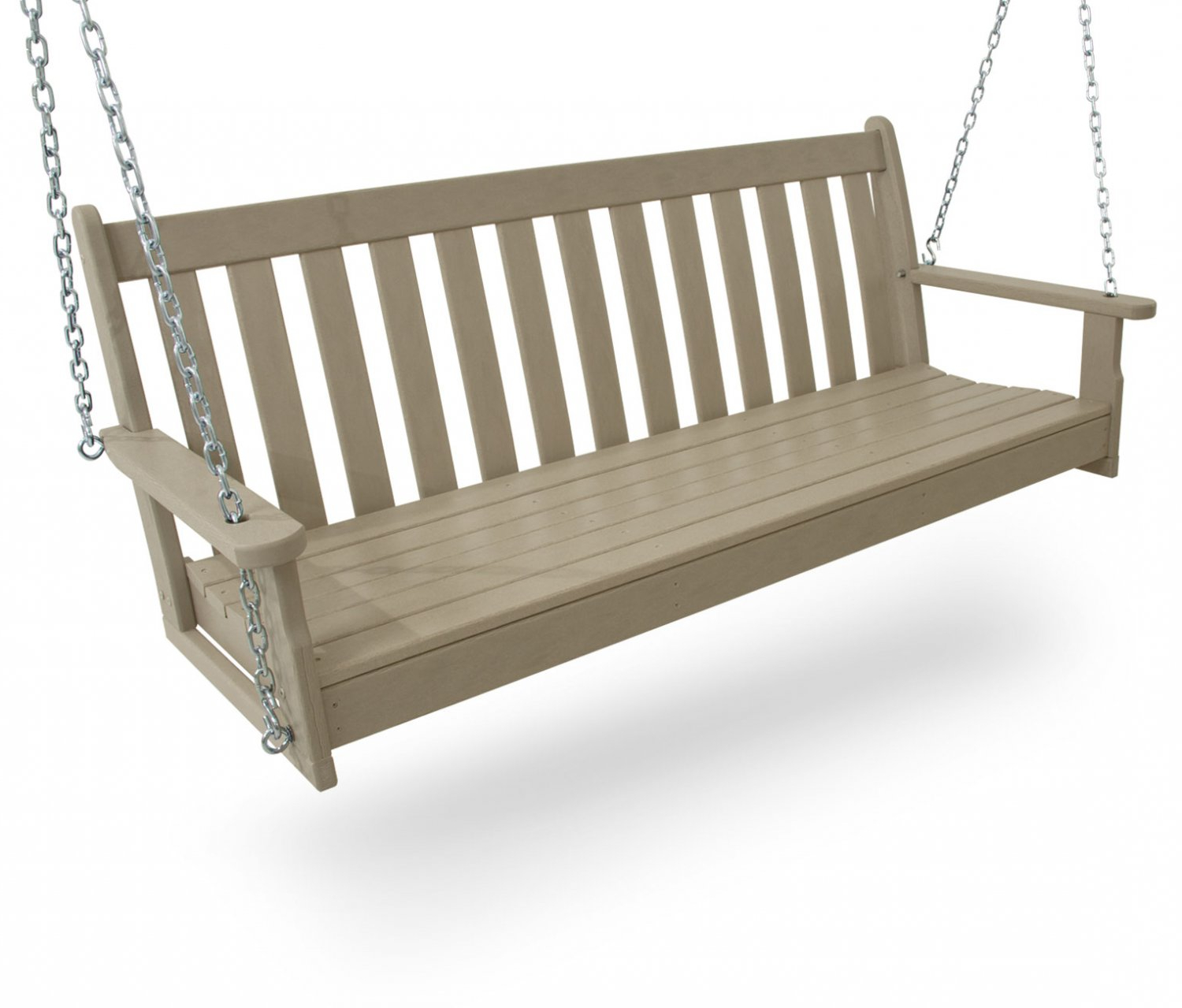 Popular Vineyard Swing 150 Cms, Hdpe Plastic Lumber, Sand, W/chains Inside Porch Swings With Chain (View 30 of 30)