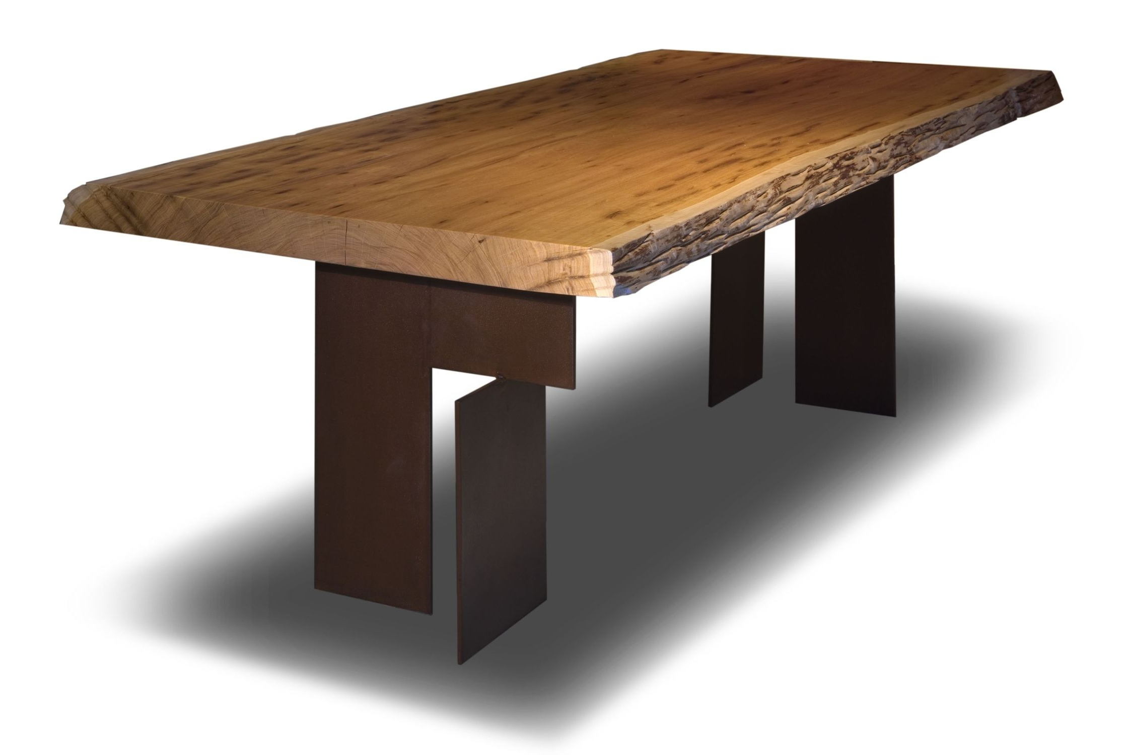 Popular Walnut Finish Live Edge Wood Contemporary Dining Tables Pertaining To Contemporary Table / Wooden / Rectangular / In Reclaimed (View 15 of 30)